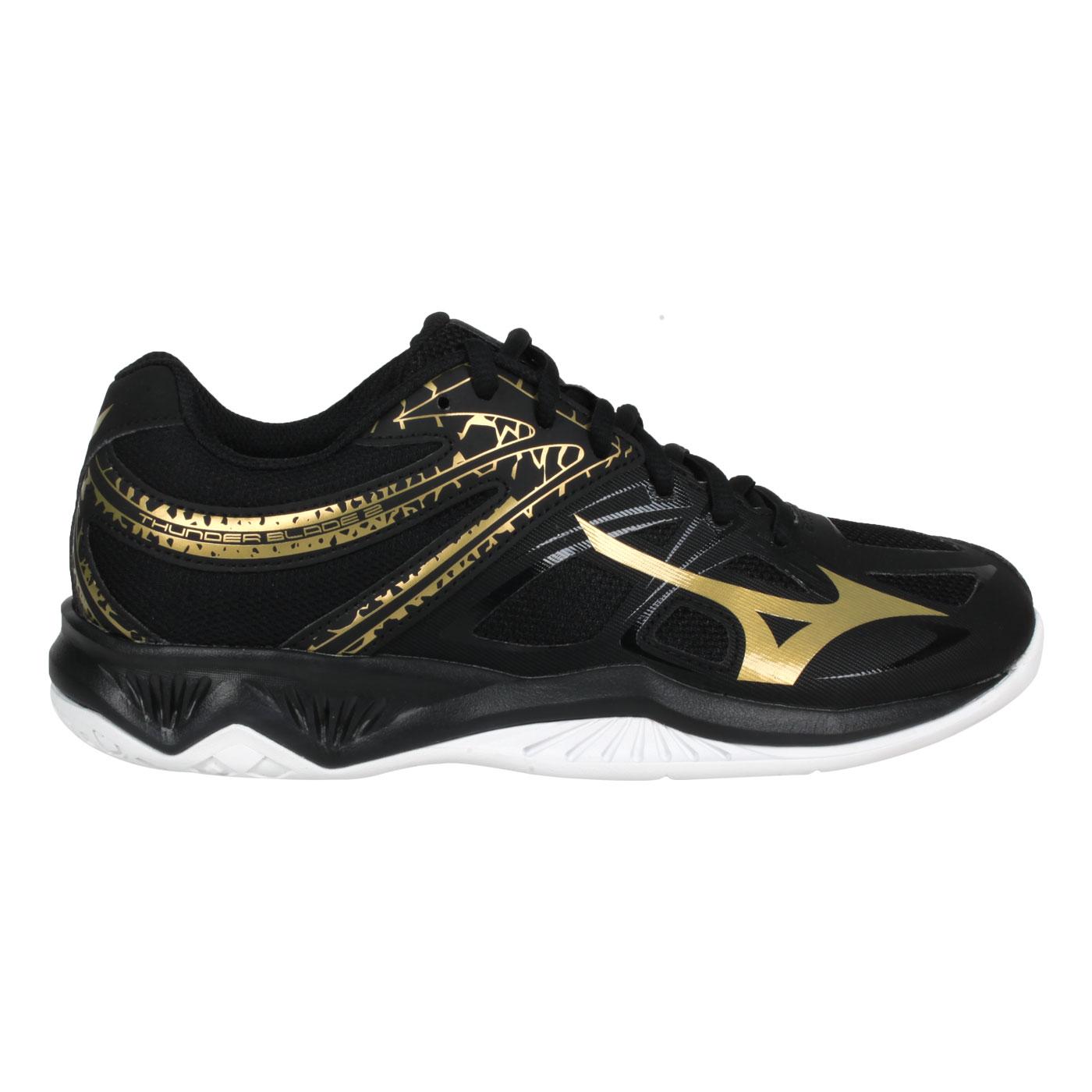 MIZUNO 男女排球鞋  @THUNDER BLADE 2@V1GA197052 - 黑金