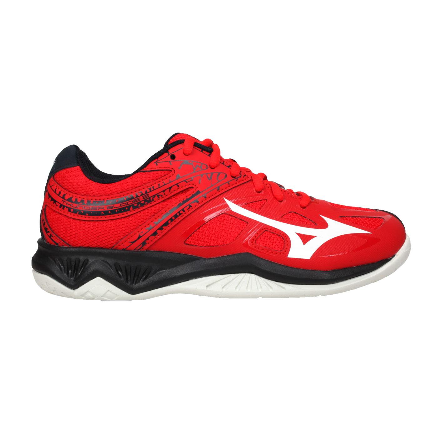 MIZUNO 排球鞋  @THUNDER BLADE 2@V1GA197063 - 紅黑白