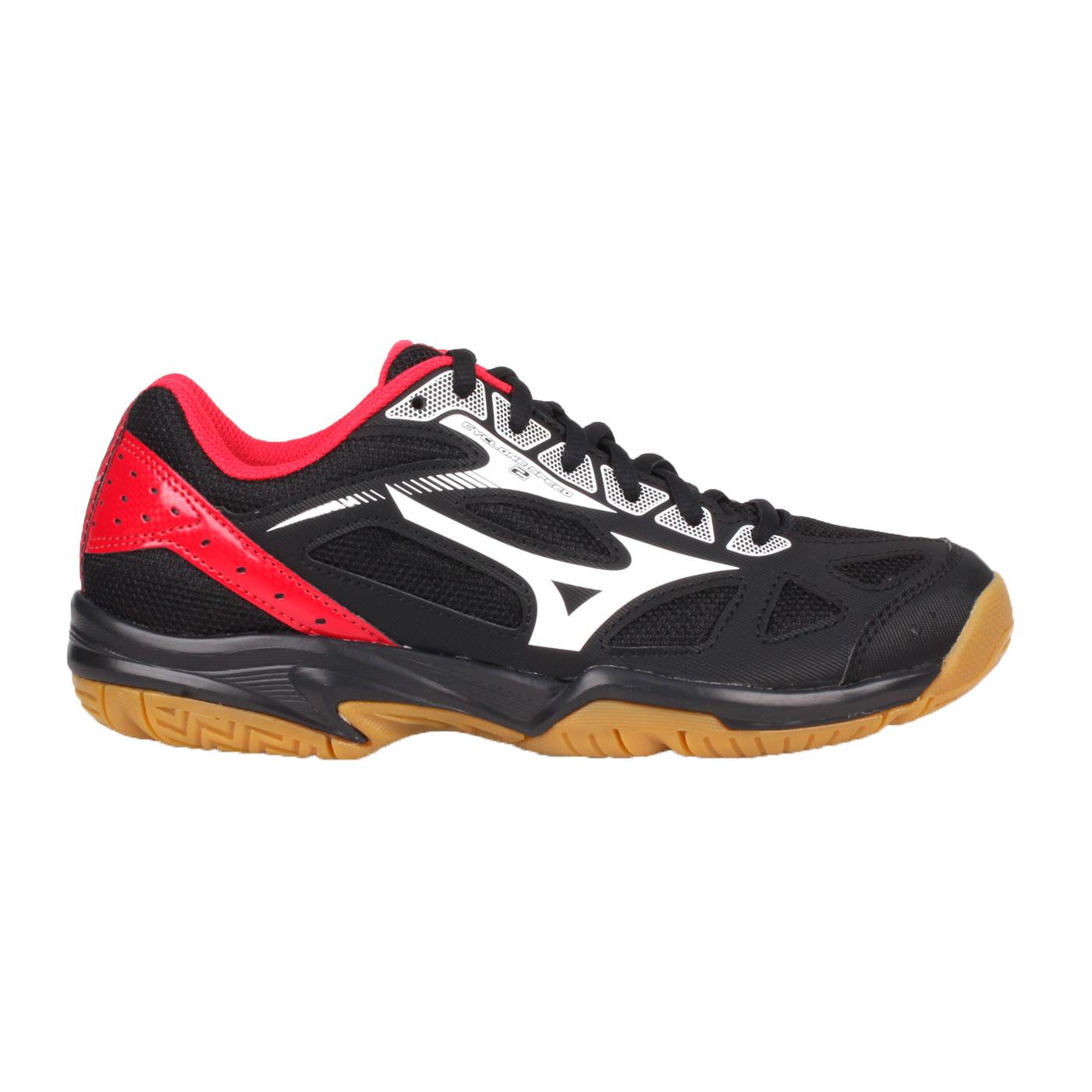 MIZUNO 排球鞋  @CYCLONE SPEED 2@V1GA198002 - 黑白紅