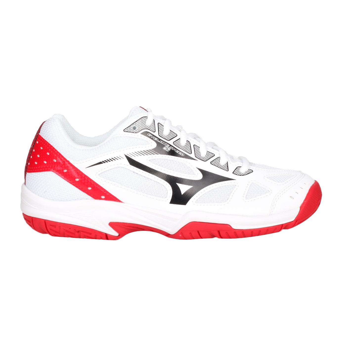 MIZUNO 排球鞋  @CYCLONE SPEED 2@V1GA198002 - 白黑紅