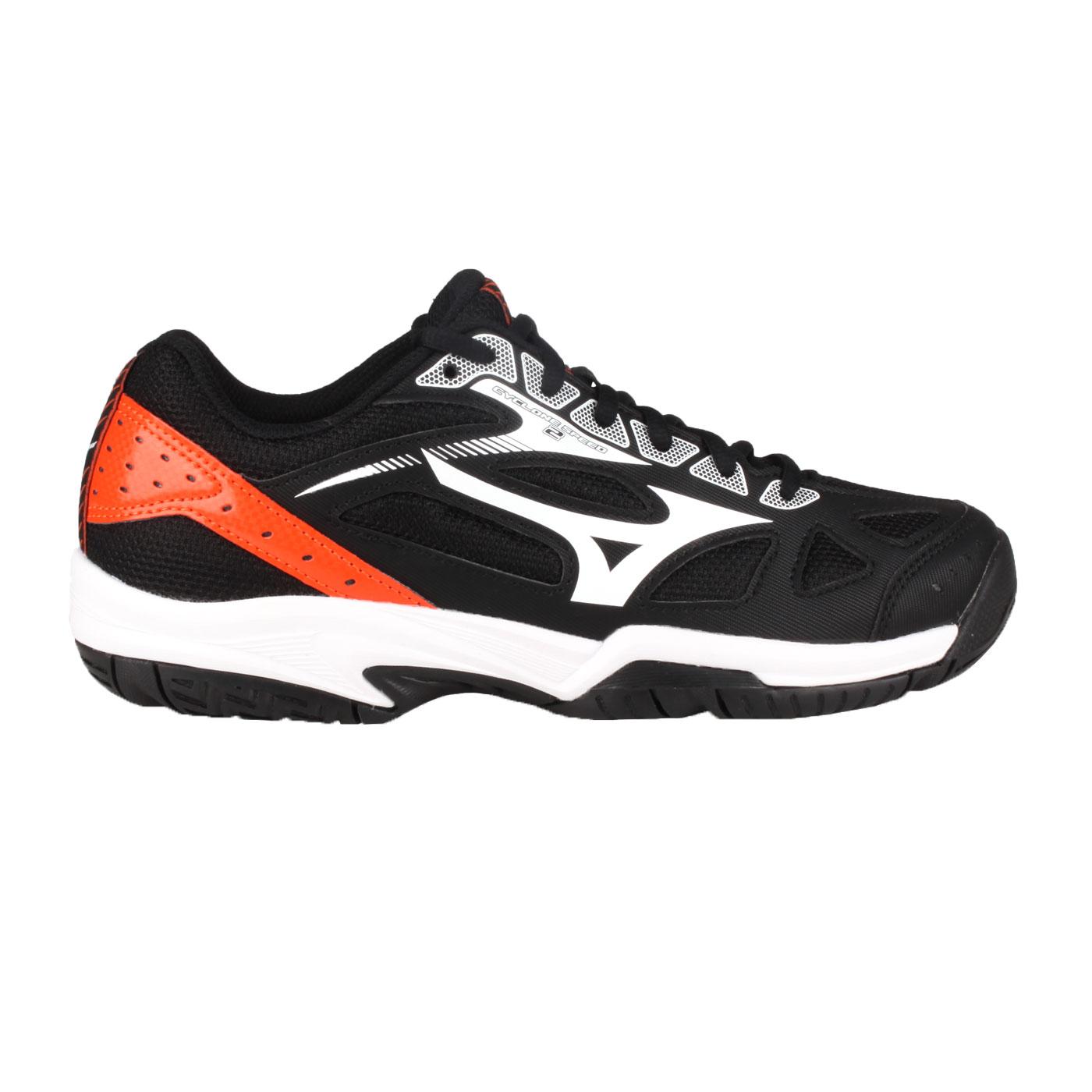 MIZUNO 排球鞋  @CYCLONE SPEED 2@V1GA198002 - 黑橘白