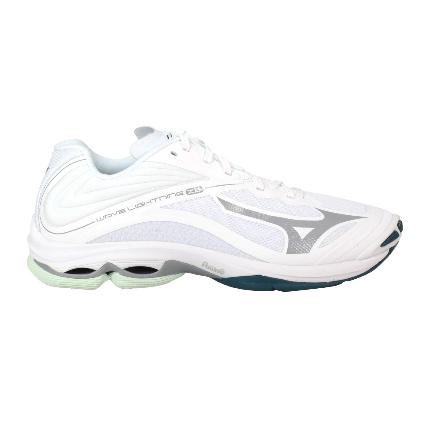 MIZUNO 男款排球鞋  @WAVE LIGHTNING Z6@V1GA200007 - 白藍綠