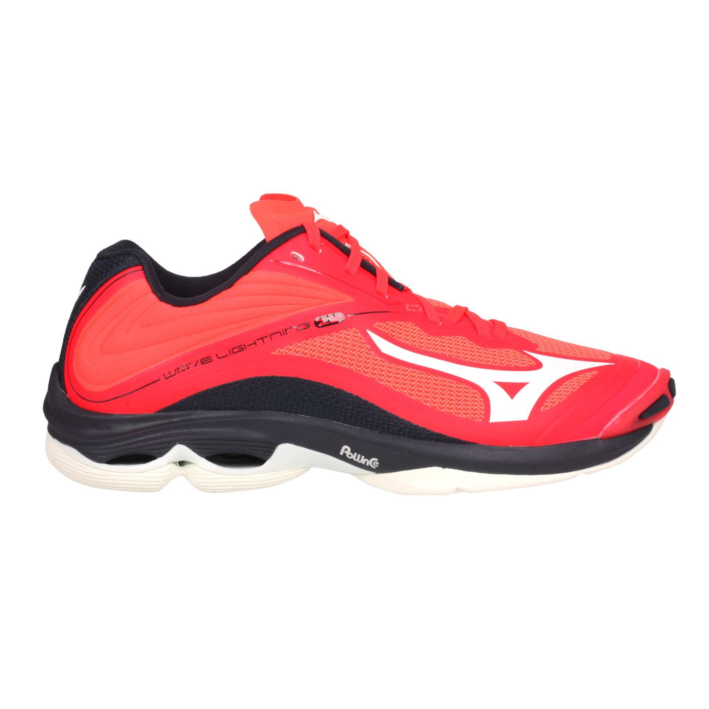 MIZUNO 男款排球鞋  @WAVE LIGHTNING Z6@V1GA200063 - 橘紅黑白