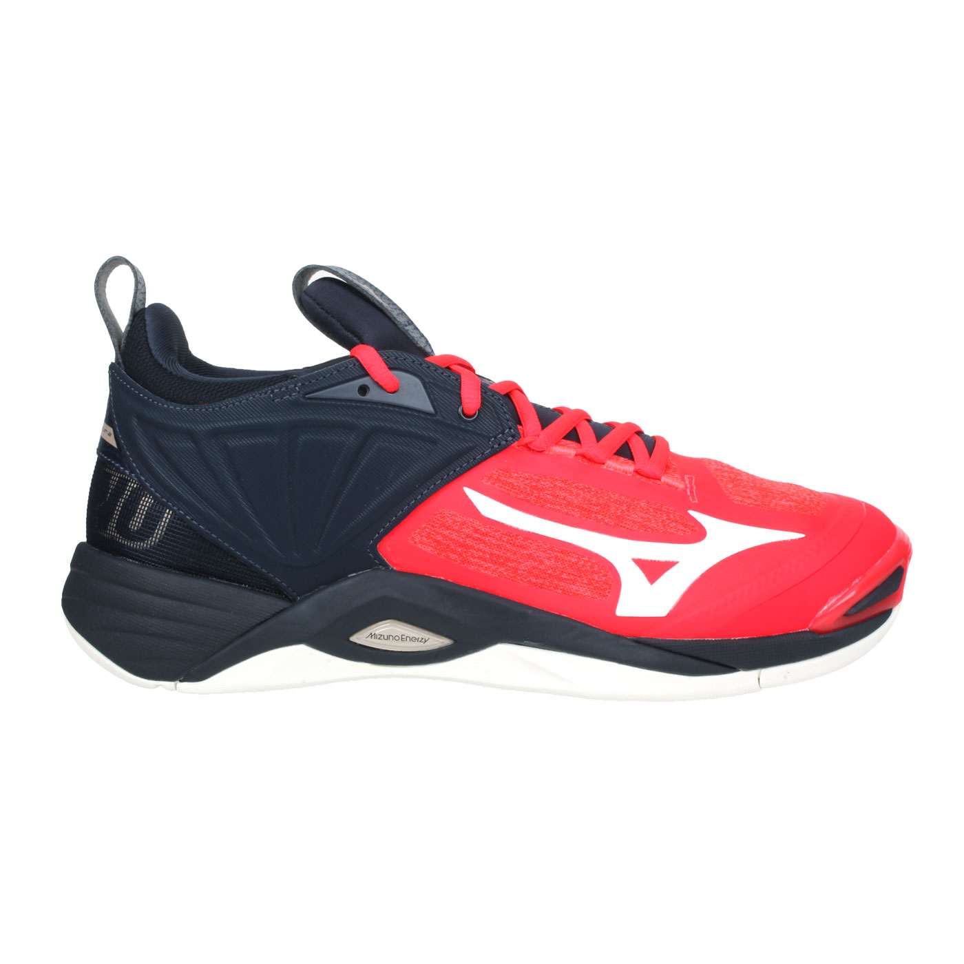MIZUNO 男款排球鞋  @WAVE MOMENTUM 2@V1GA211263 - 橘紅黑白