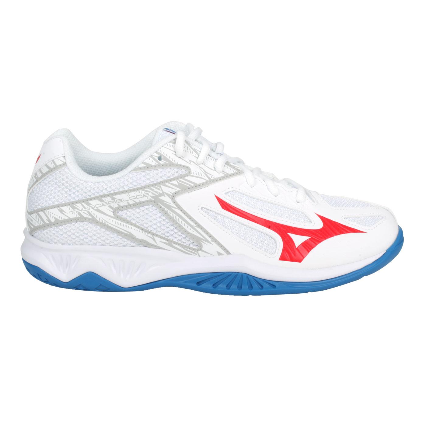 MIZUNO 排球鞋  @THUNDER BLADE 3@V1GA217025 - 白紅藍