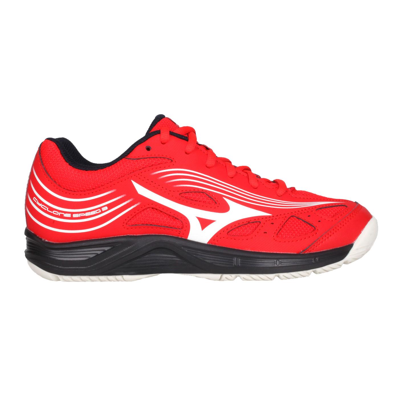 MIZUNO 排球鞋  @CYCLONE SPEED 3@V1GA218063 - 紅白黑