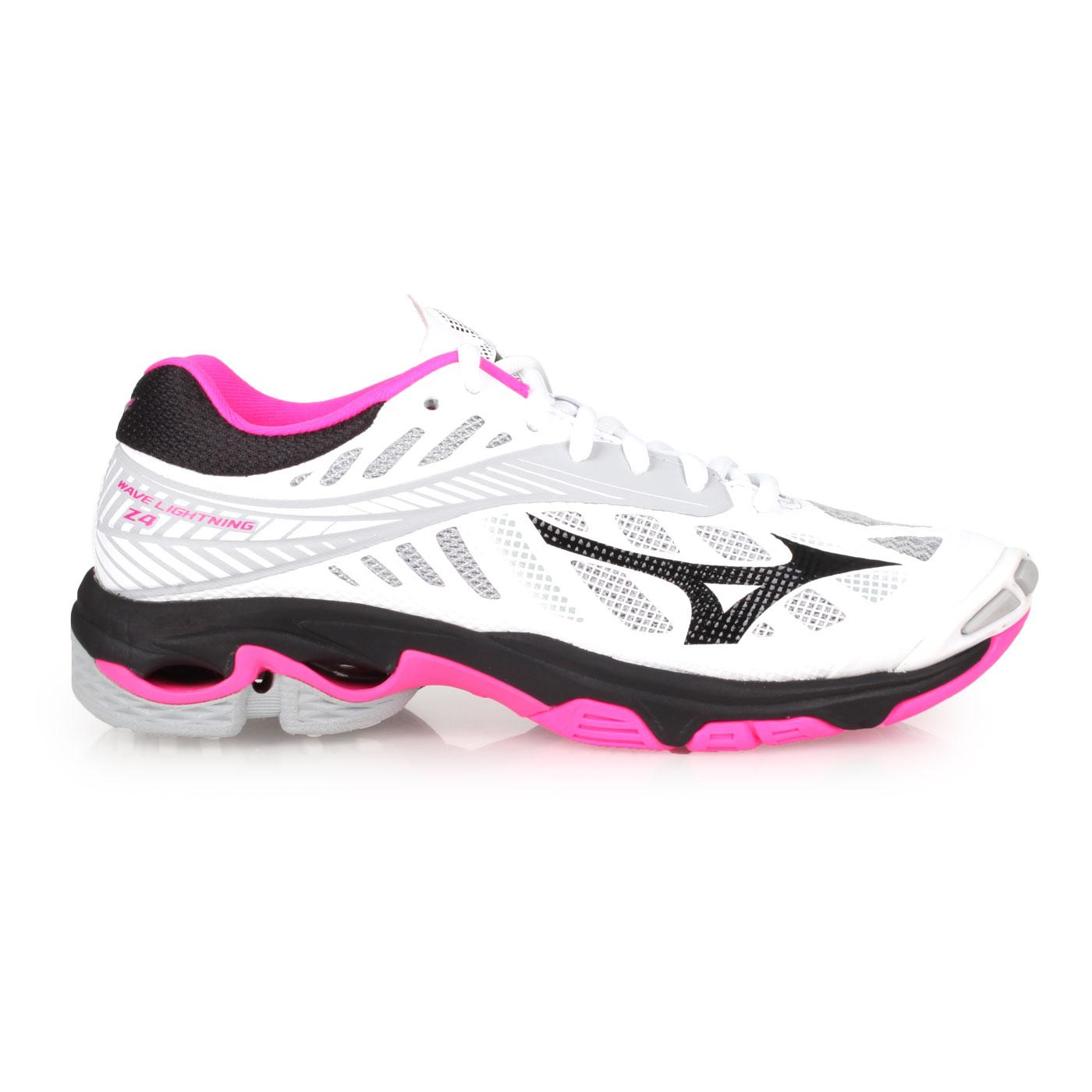 MIZUNO 女排球鞋  @WAVE LIGHTNING Z4@V1GC180064 - 白粉灰黑