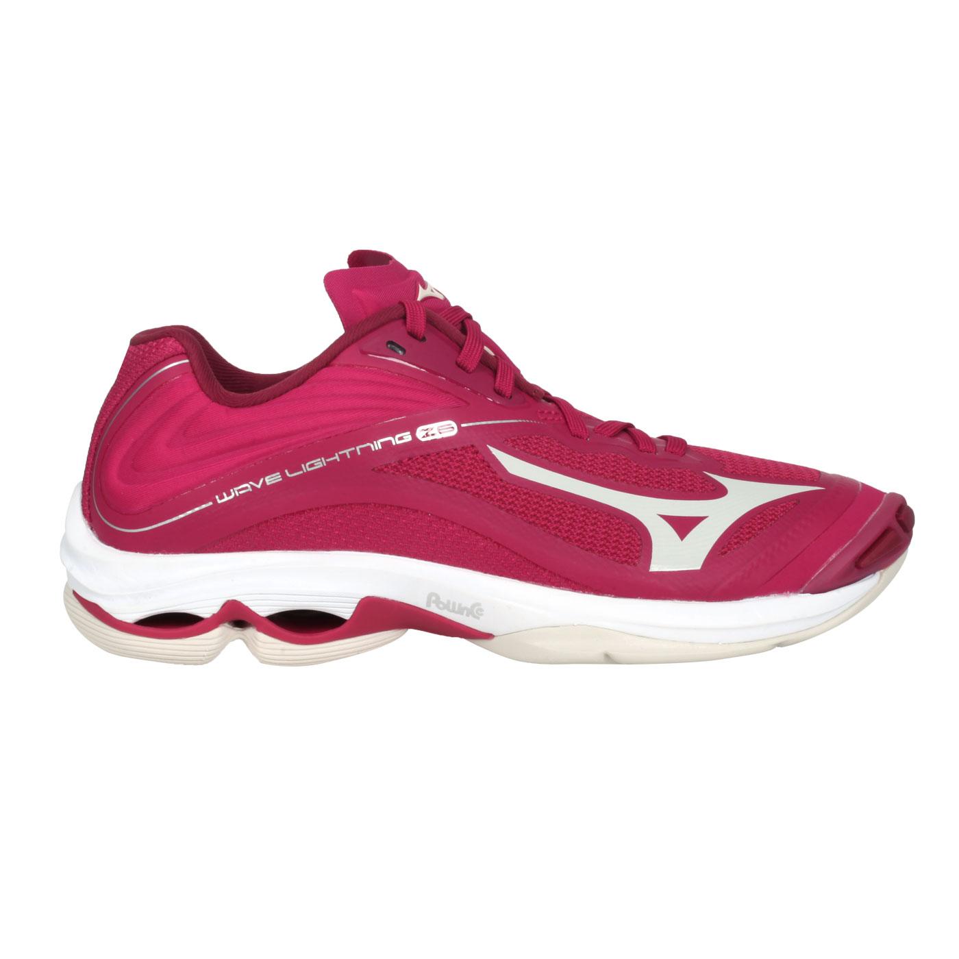 MIZUNO 女款排球鞋  @WAVE LIGHTNING Z6@V1GC200064 - 玫紅紫銀