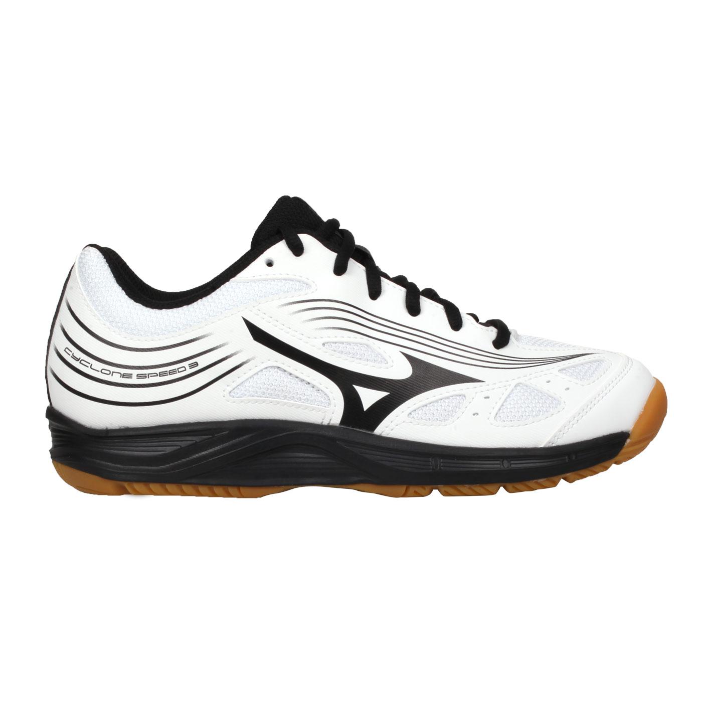 MIZUNO 女款排球鞋  @CYCLONE SPEED 3@V1GC218009 - 白黑