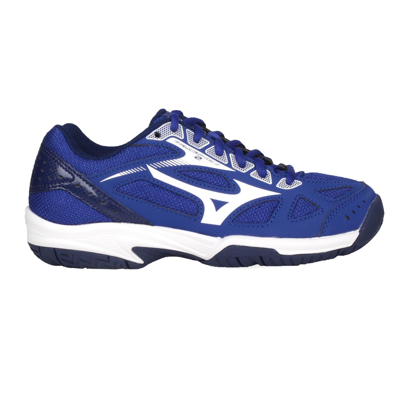 MIZUNO 兒童排球鞋  @CYCLONE SPEED 2 Jr.@V1GD191020 - 深藍白