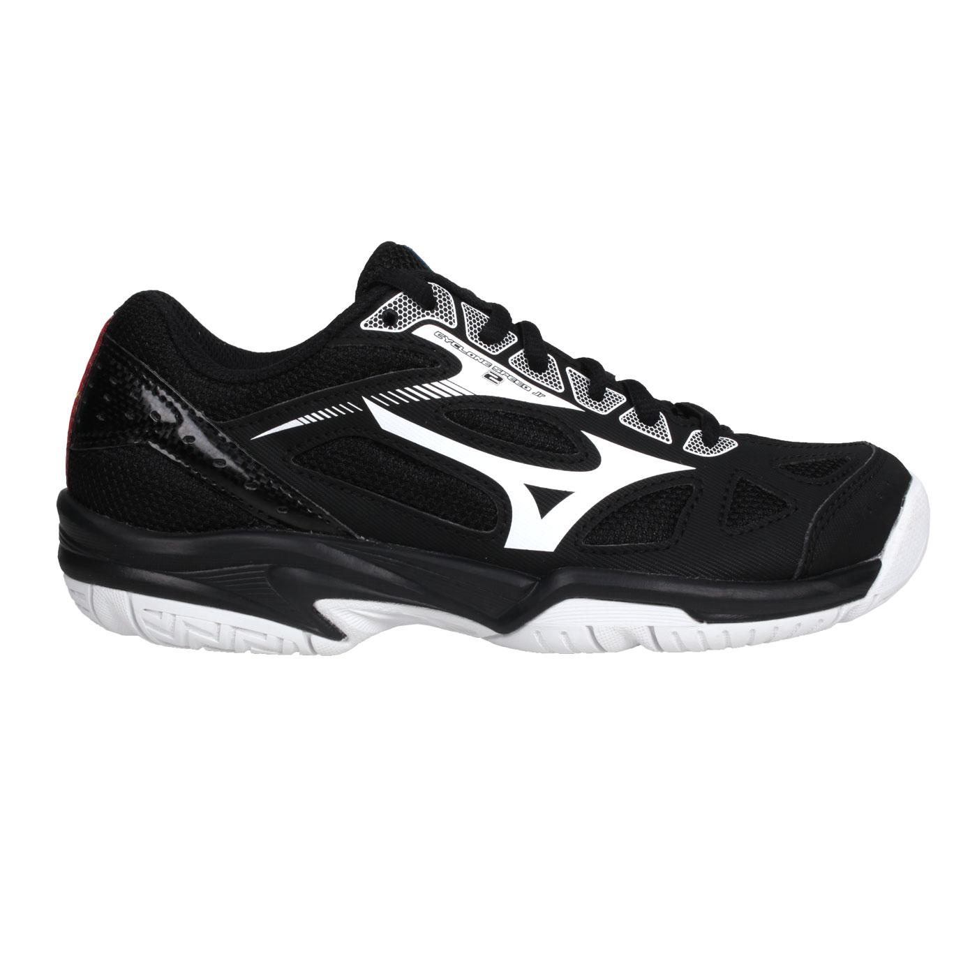 MIZUNO 兒童排球鞋  @CYCLONE SPEED 2 Jr.@V1GD191020 - 黑白紅藍
