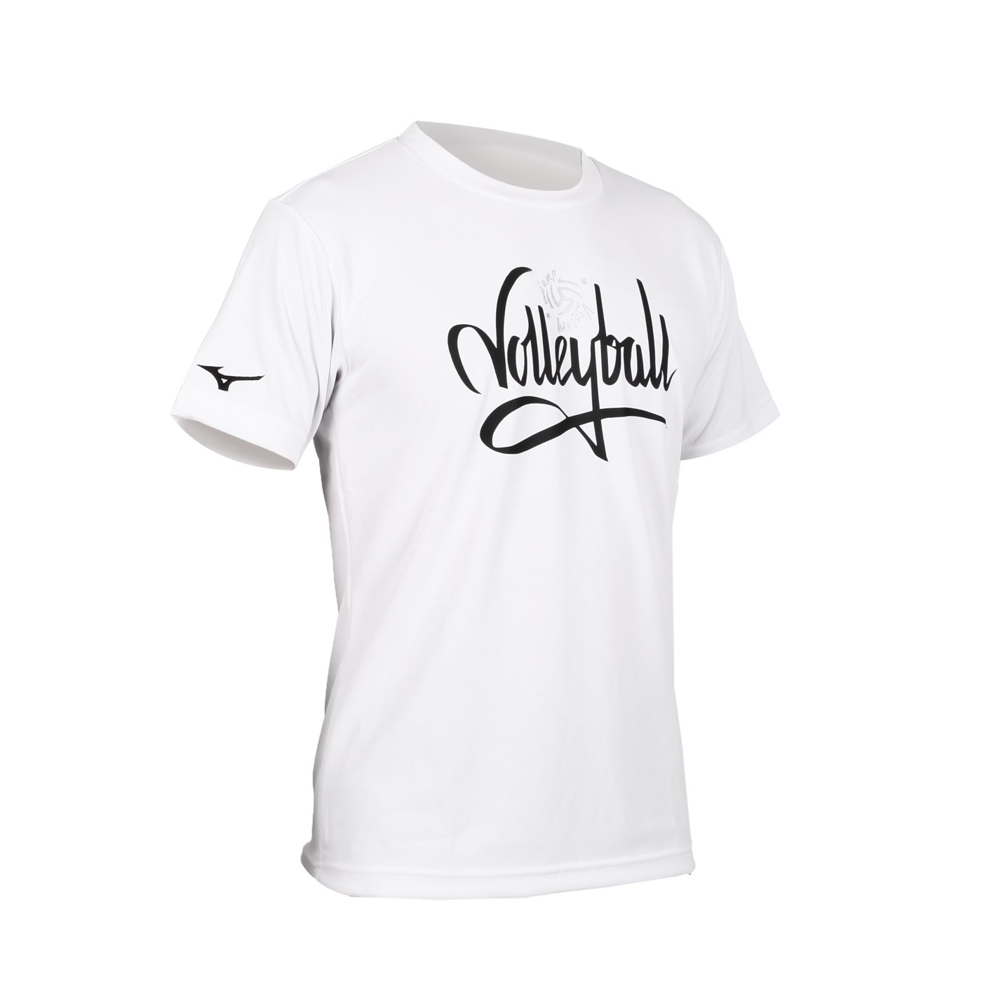 MIZUNO 男款排球短袖T恤 V2TA0G2201 - 白黑銀