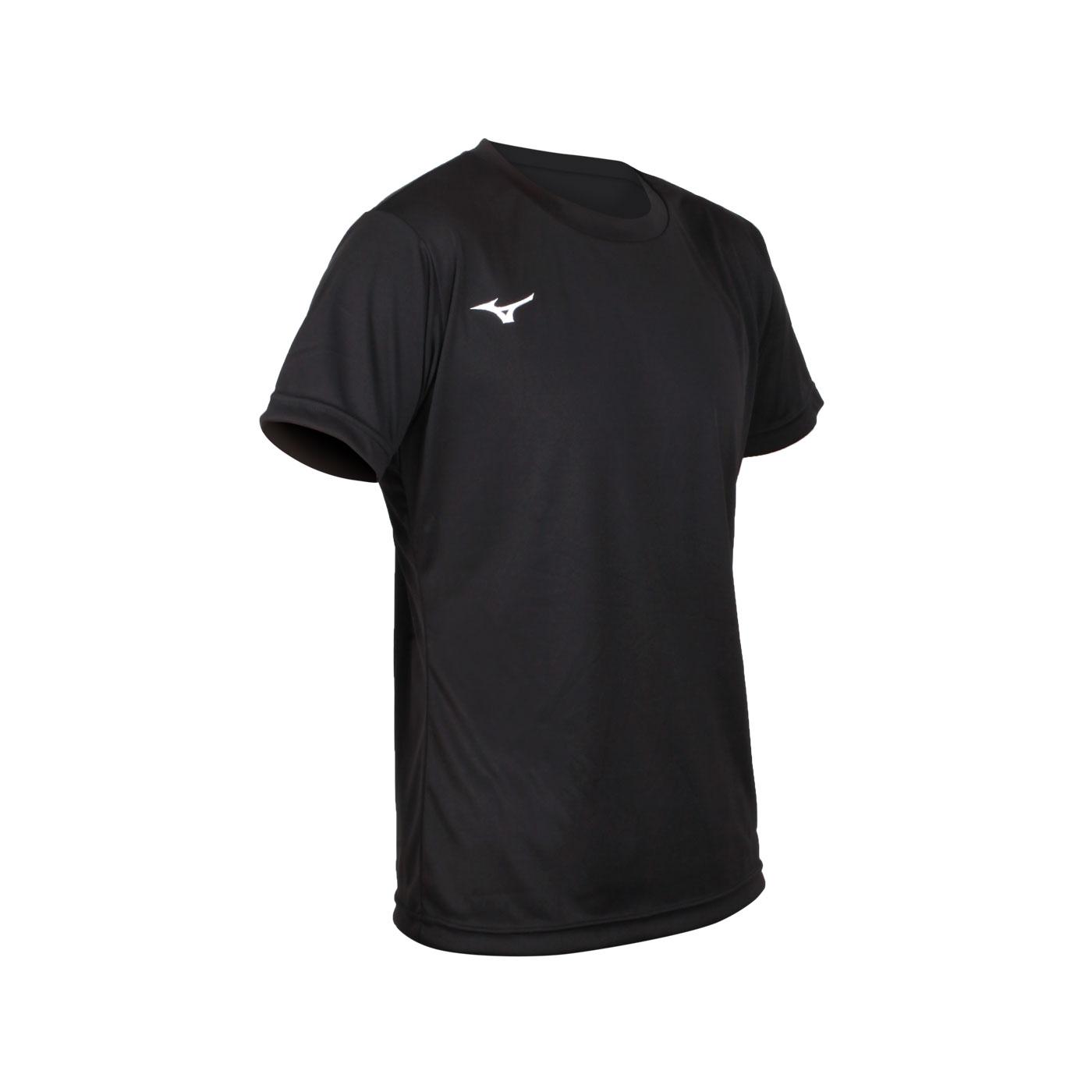 MIZUNO 男款排球短袖T恤 V2TA1G2009 - 黑白藍黃