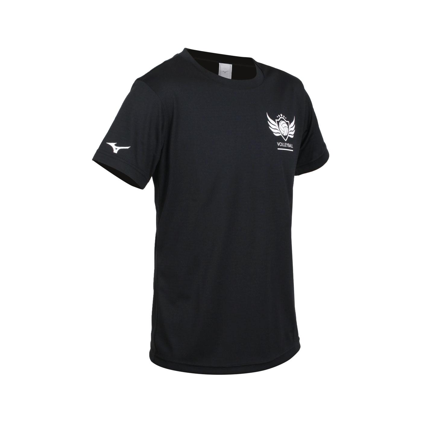 MIZUNO 男款短袖T恤 V2TA1G2209 - 黑白