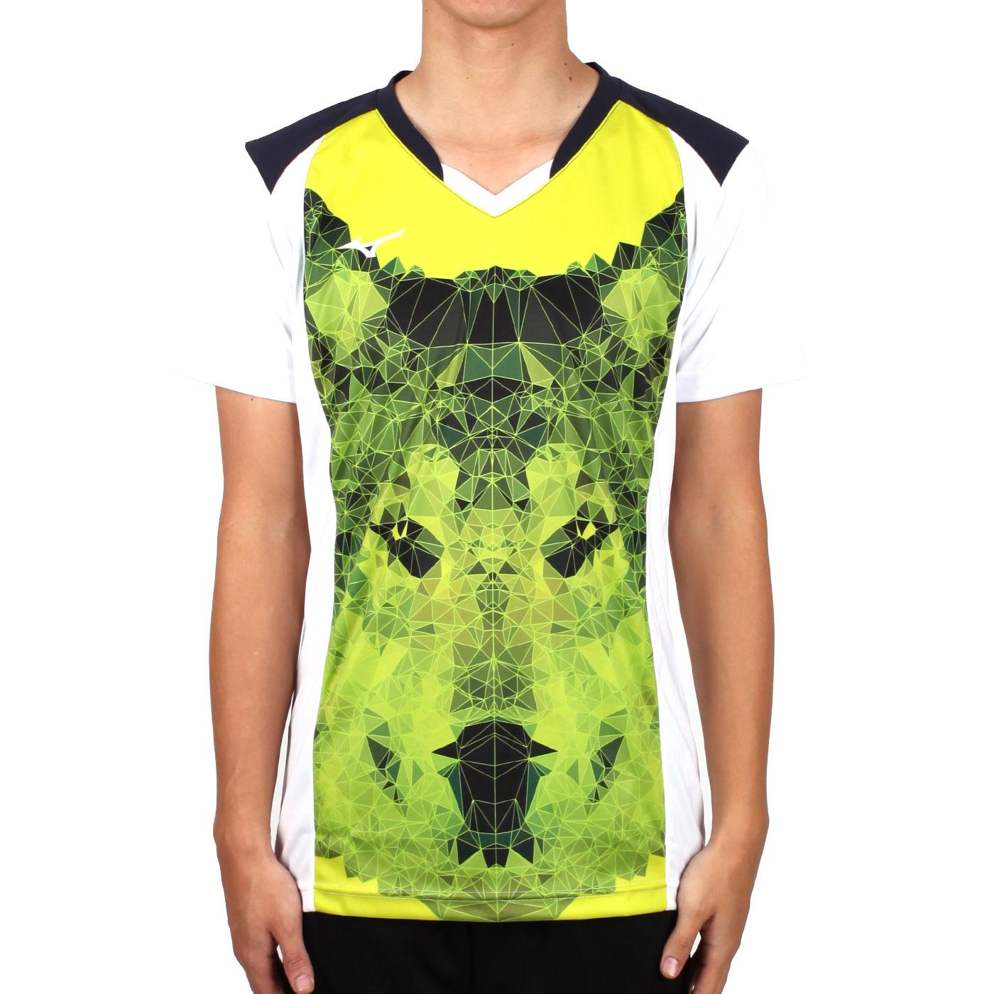 MIZUNO 男排球短袖上衣(2017企業排球聯賽) V2TA7A3081D - 芥末黃黑