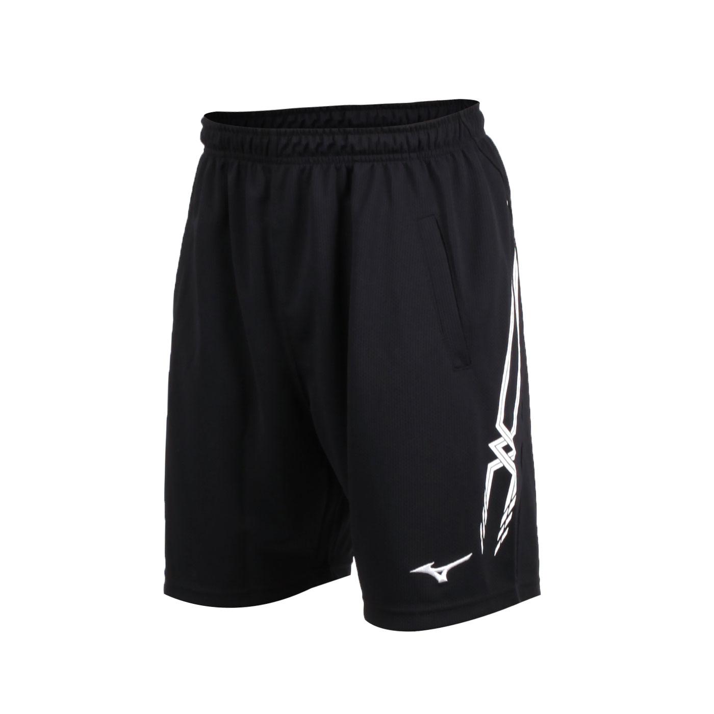 MIZUNO 男排球褲 V2TB7A0609 - 黑白