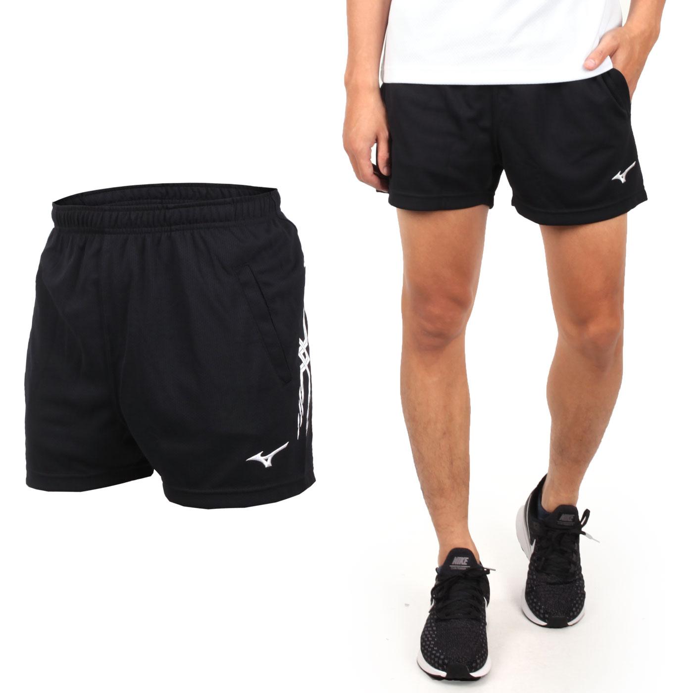 MIZUNO 男排球短褲 V2TB7A0809 - 黑白