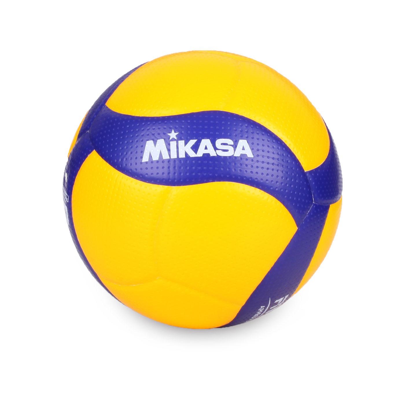 MIKASA 超纖皮製練習型排球 #5 V300W - 黃藍