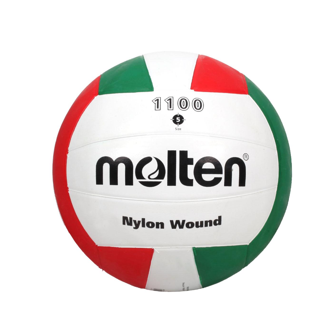 Molten #5橡膠排球 V5C1100 - 白紅綠
