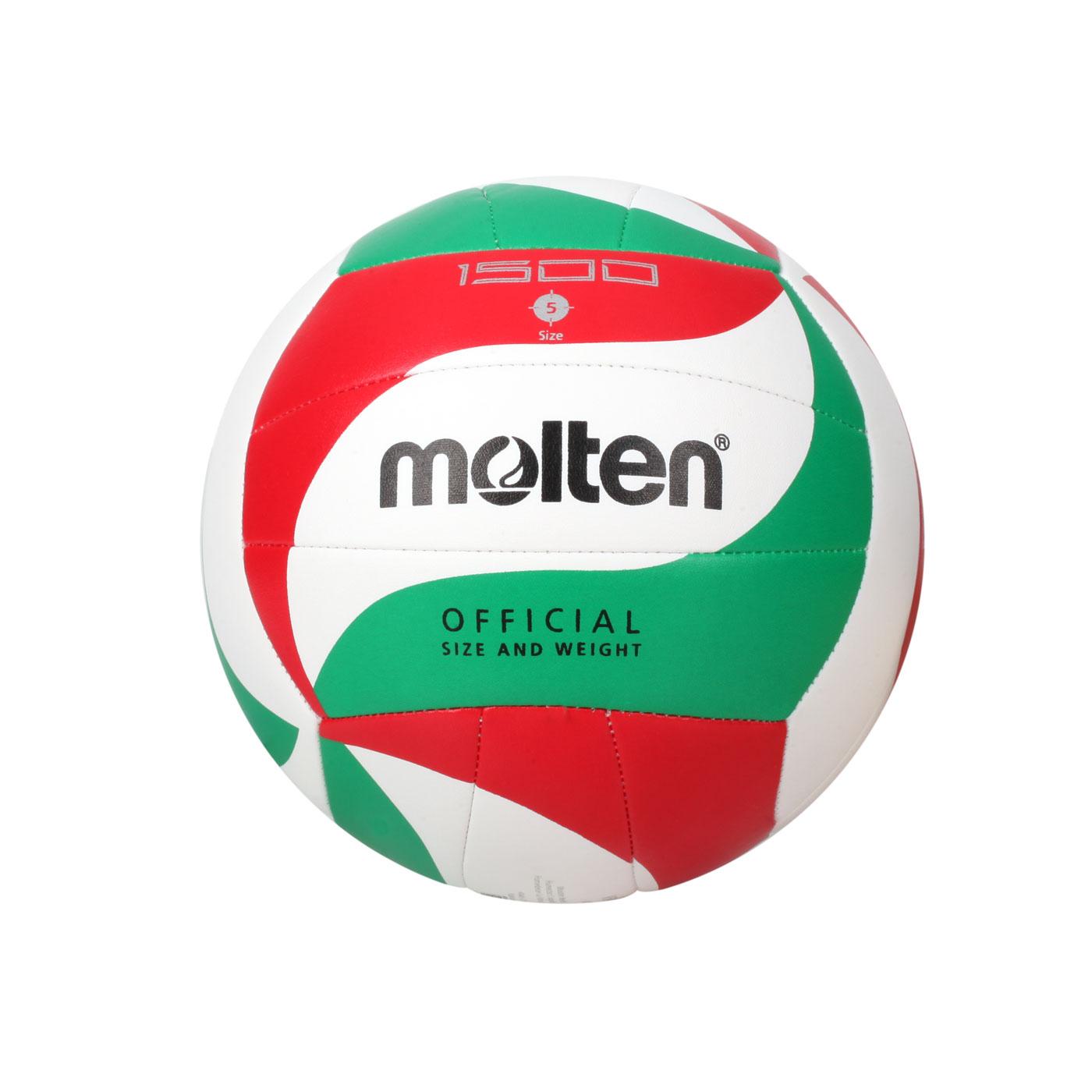 Molten #5合成皮排球 V5M1500 - 白紅綠