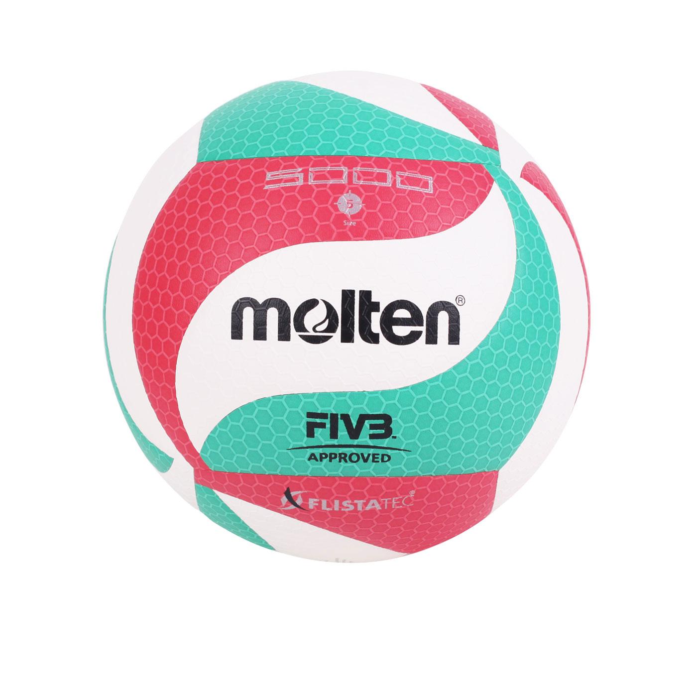 Molten #5合成皮排球 V5M5000 - 白紅綠
