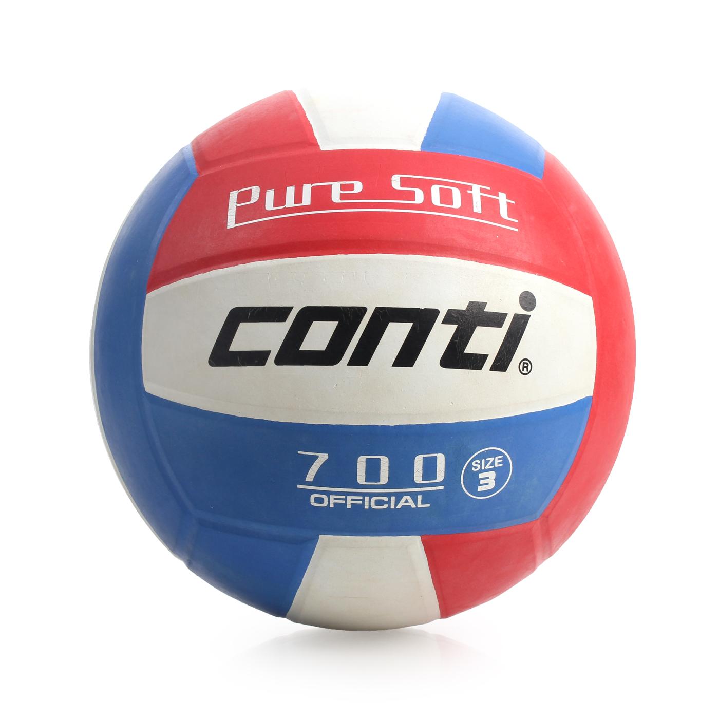 詠冠conti 3號超軟橡膠排球 CONTIV700-3-RWB - 藍紅