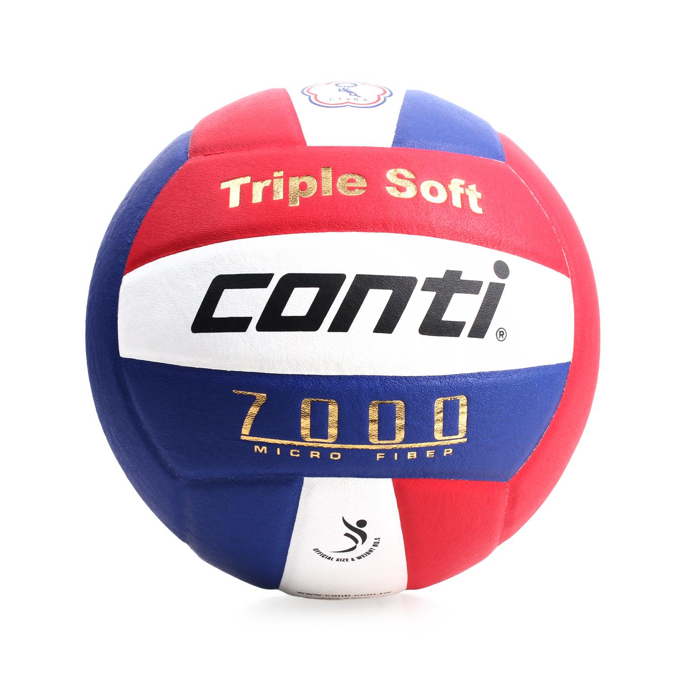 詠冠conti 5號日本超細纖維結構專利排球 CONTIV7000-5-RWB - 藍紅白