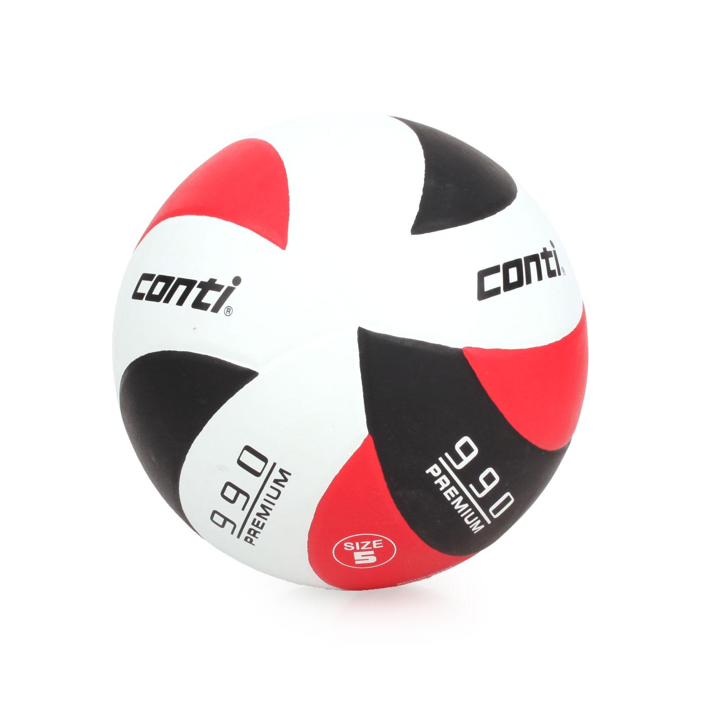 詠冠conti 5號頂級超世代橡膠排球 CONTIV990-5-WBKO - 紅黑白
