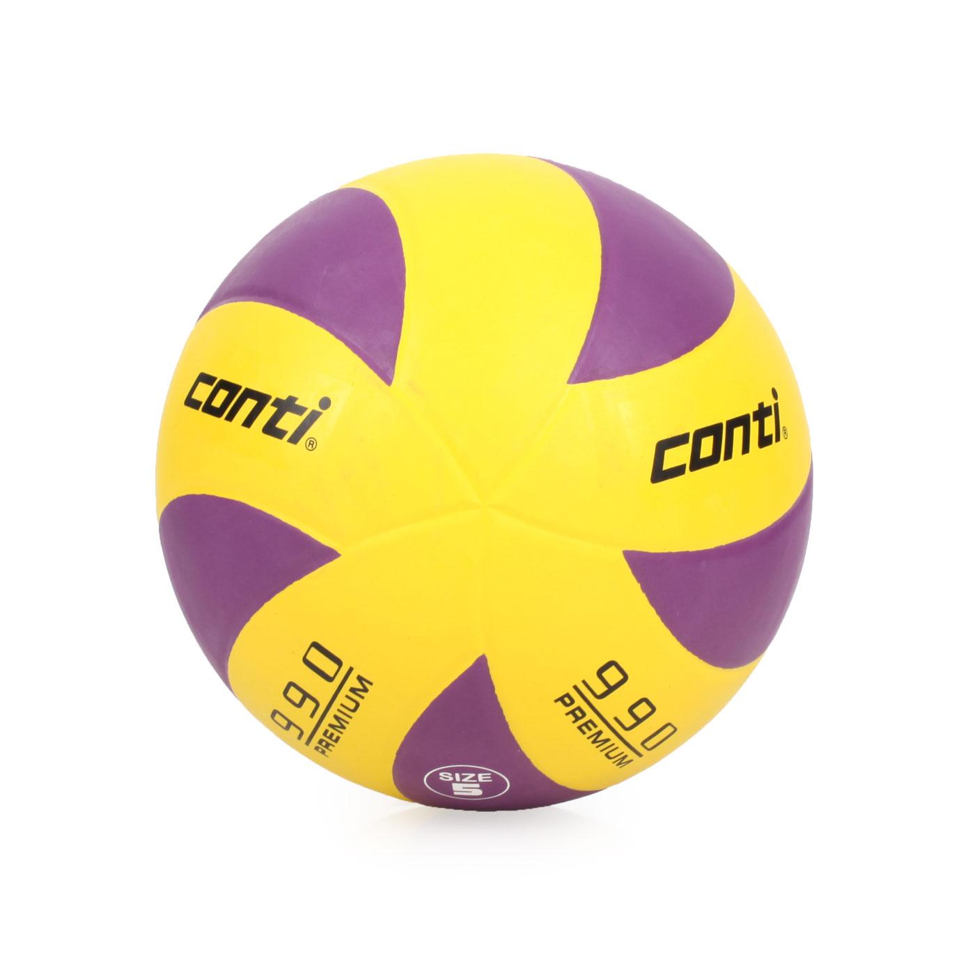 詠冠conti 5號頂級超世代橡膠排球 CONTIV990-5-WBKO - 黃紫
