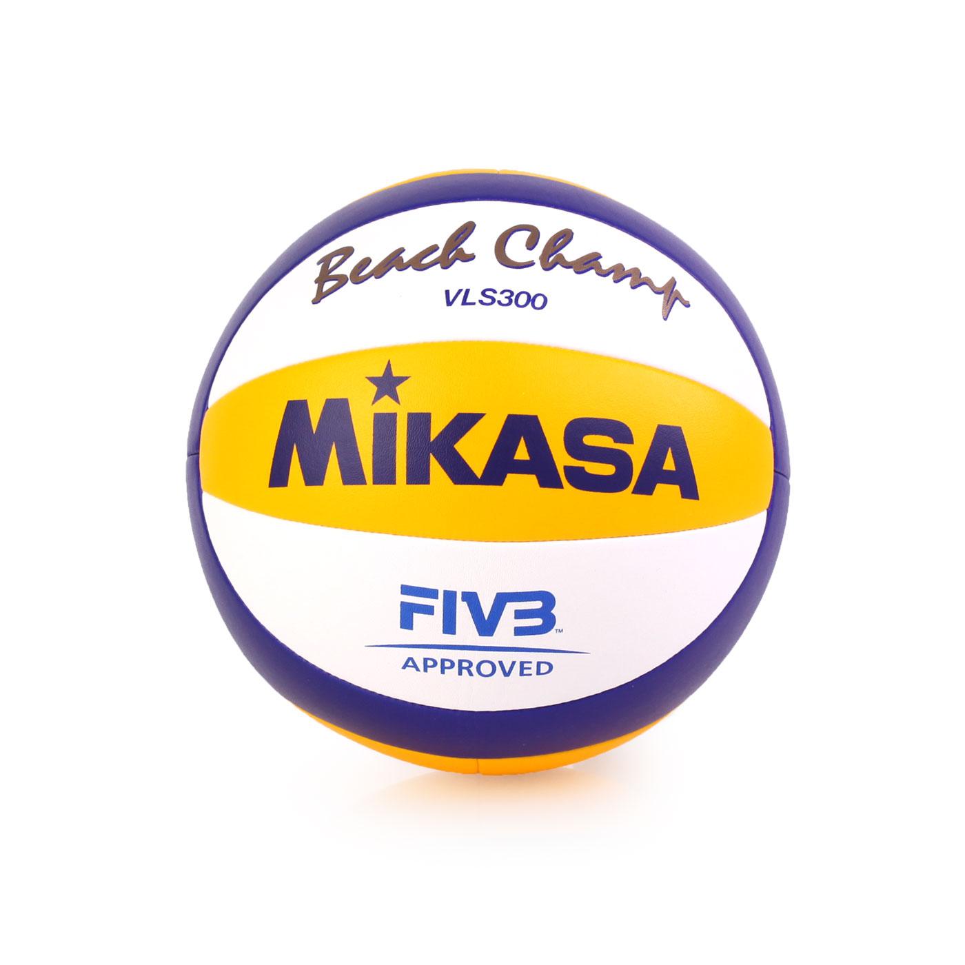 MIKASA 超纖皮製比賽及沙灘排球 VLS300 - 黃藍白