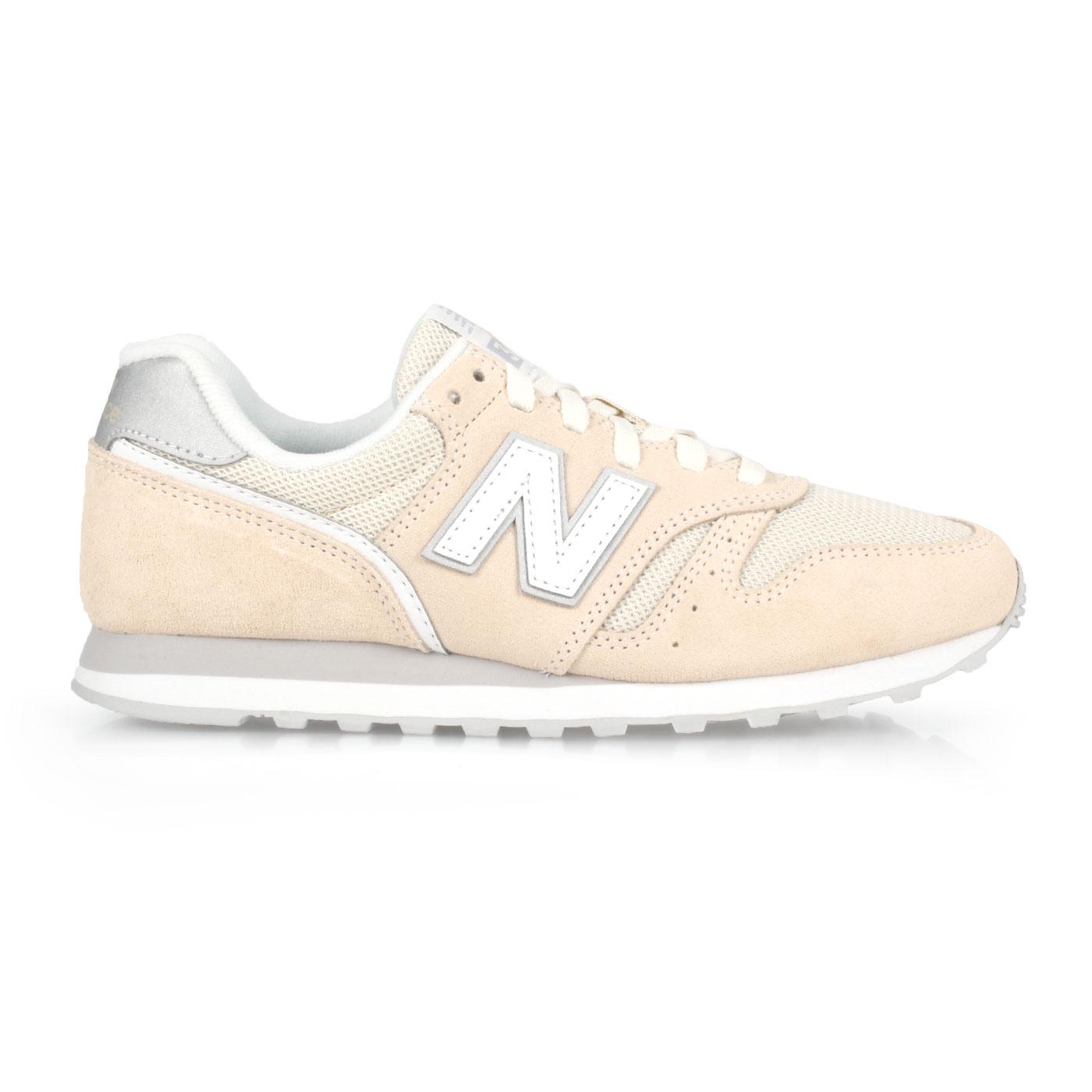 NEW BALANCE 女款復古慢跑鞋 WL373AB2 - 米黃白銀