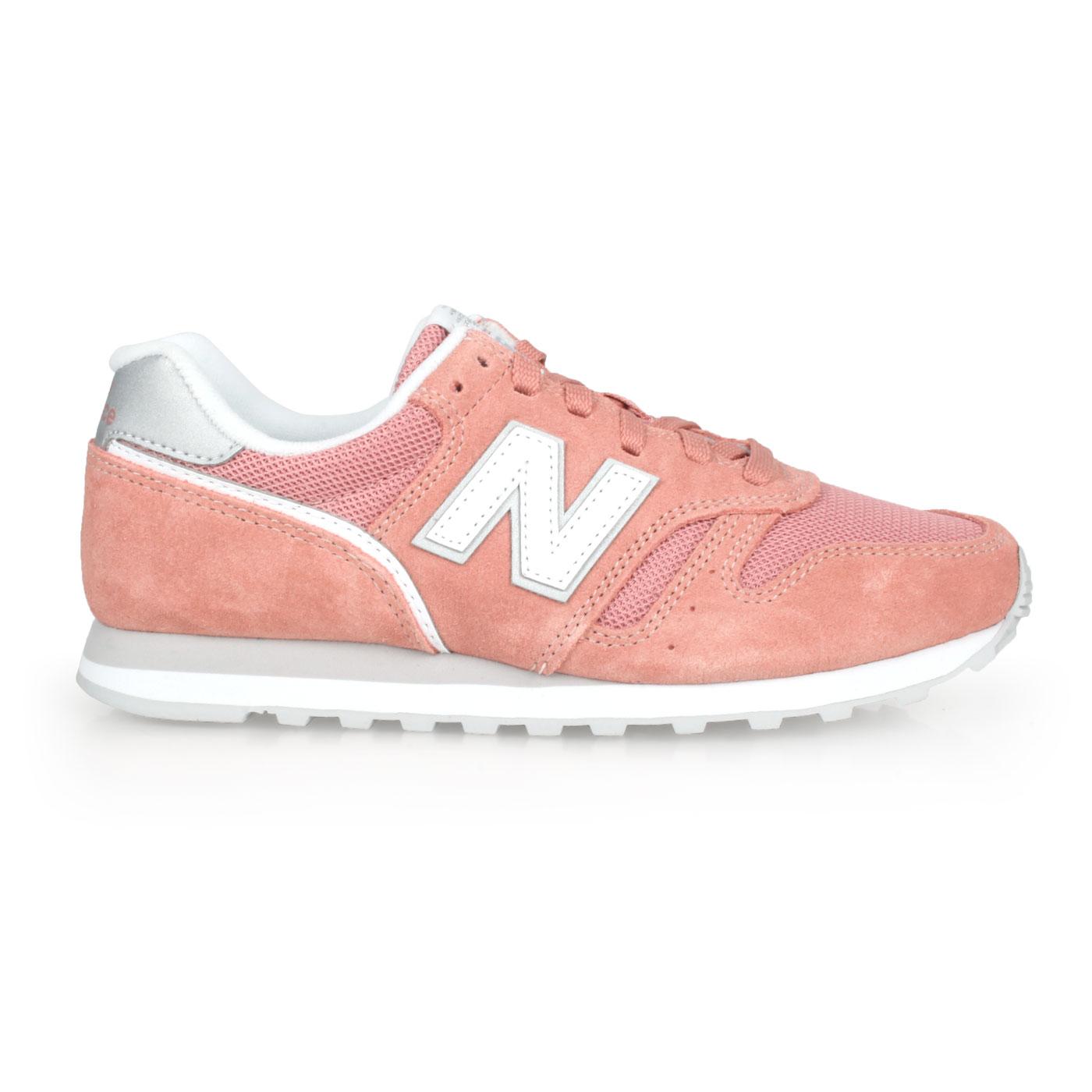 NEW BALANCE 女款復古慢跑鞋 WL373AB2 - 珊瑚紅白銀