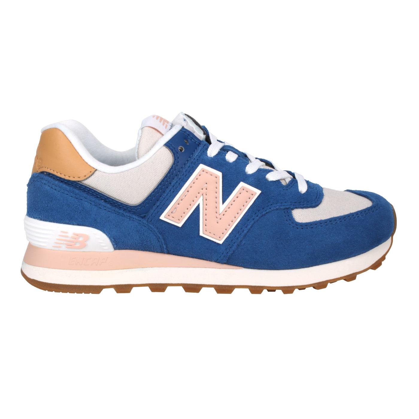 NEW BALANCE 女款運動休閒鞋 WL574NU2 - 藍粉棕