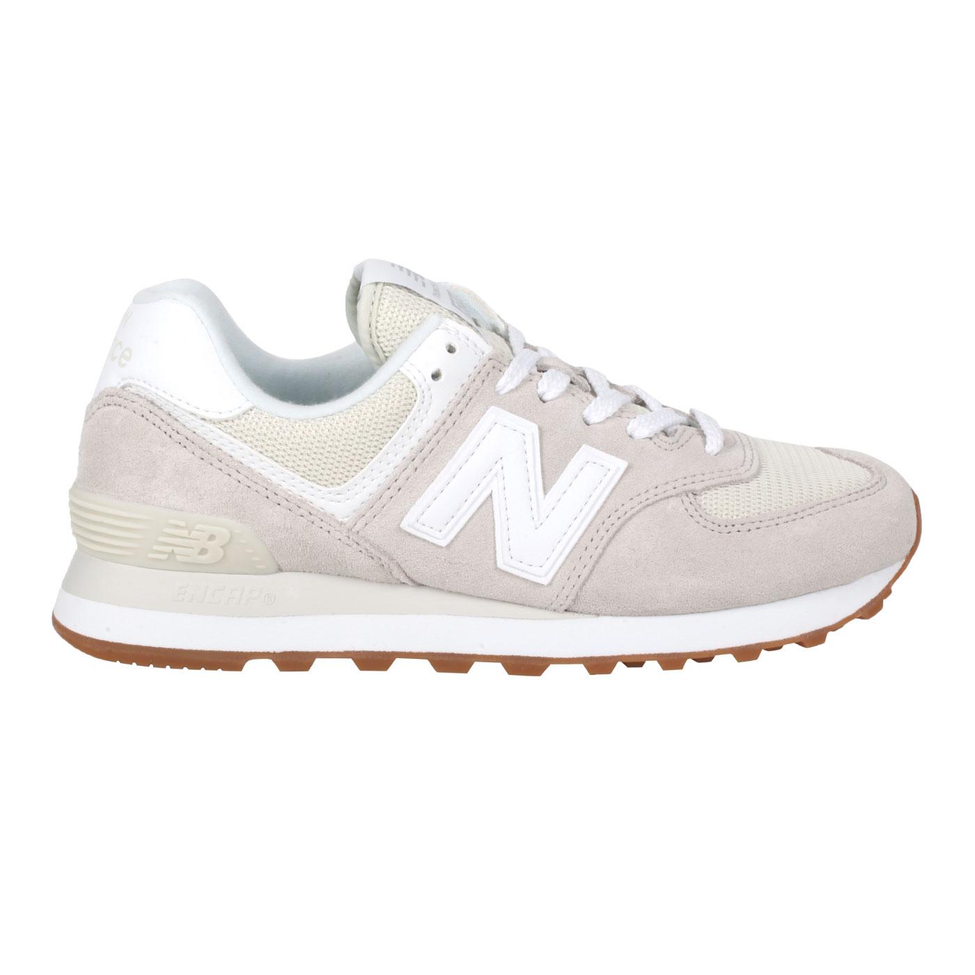 NEW BALANCE 女款休閒運動鞋 WL574PC2 - 淺灰白