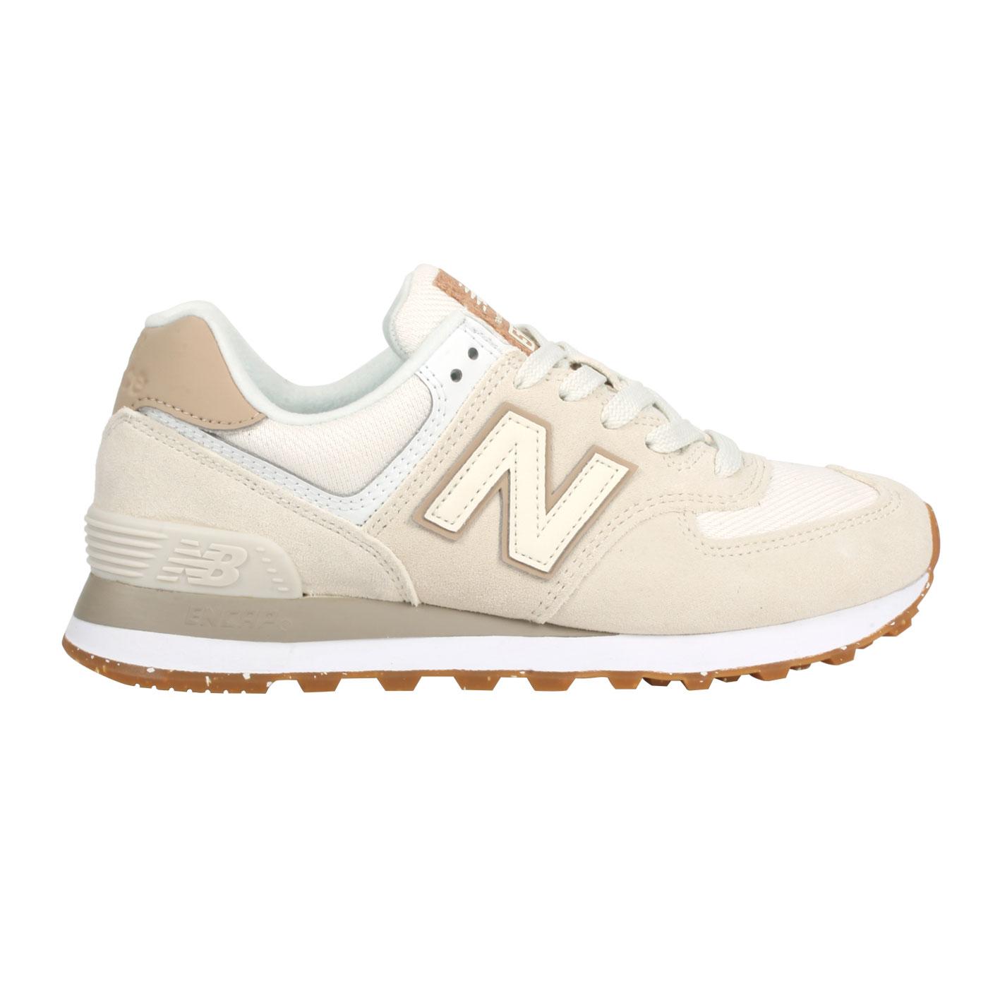 NEW BALANCE 女款復古運動鞋 WL574SL2 - 白淺棕