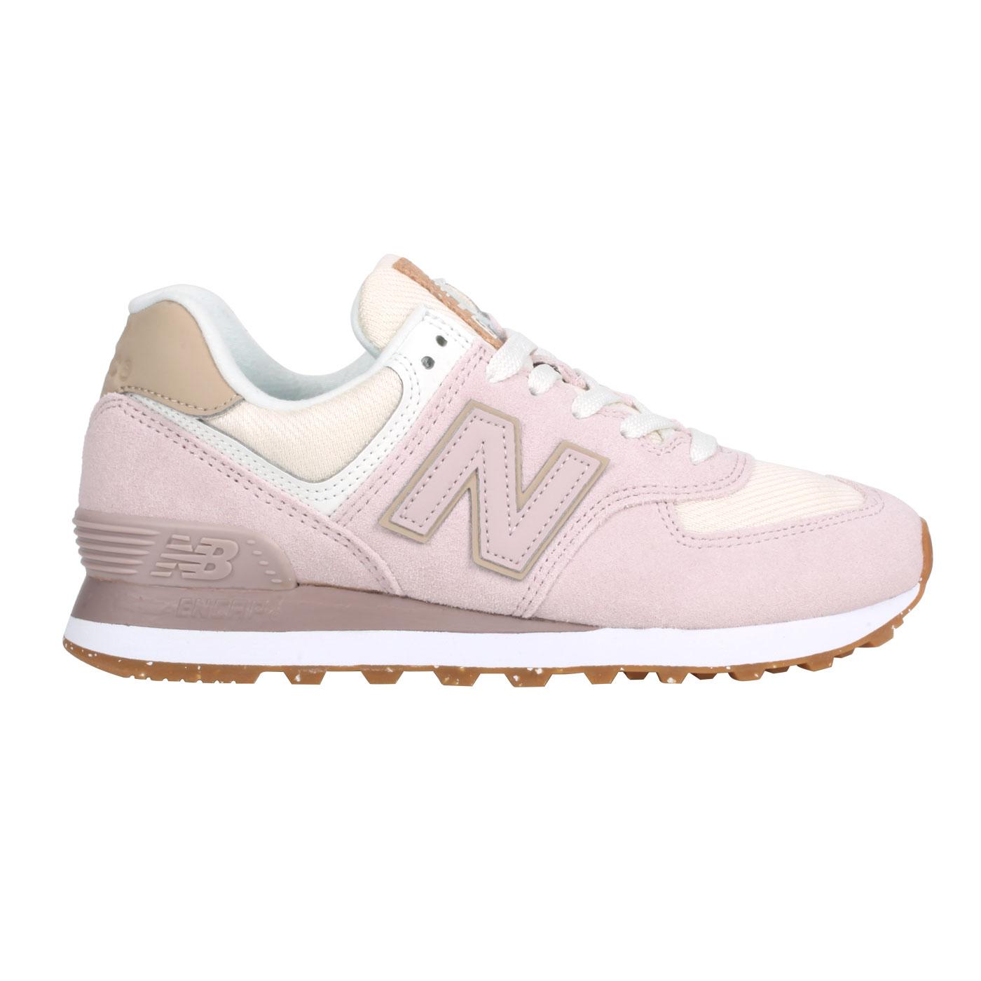 NEW BALANCE 女款復古運動鞋 WL574SP2 - 莓果粉