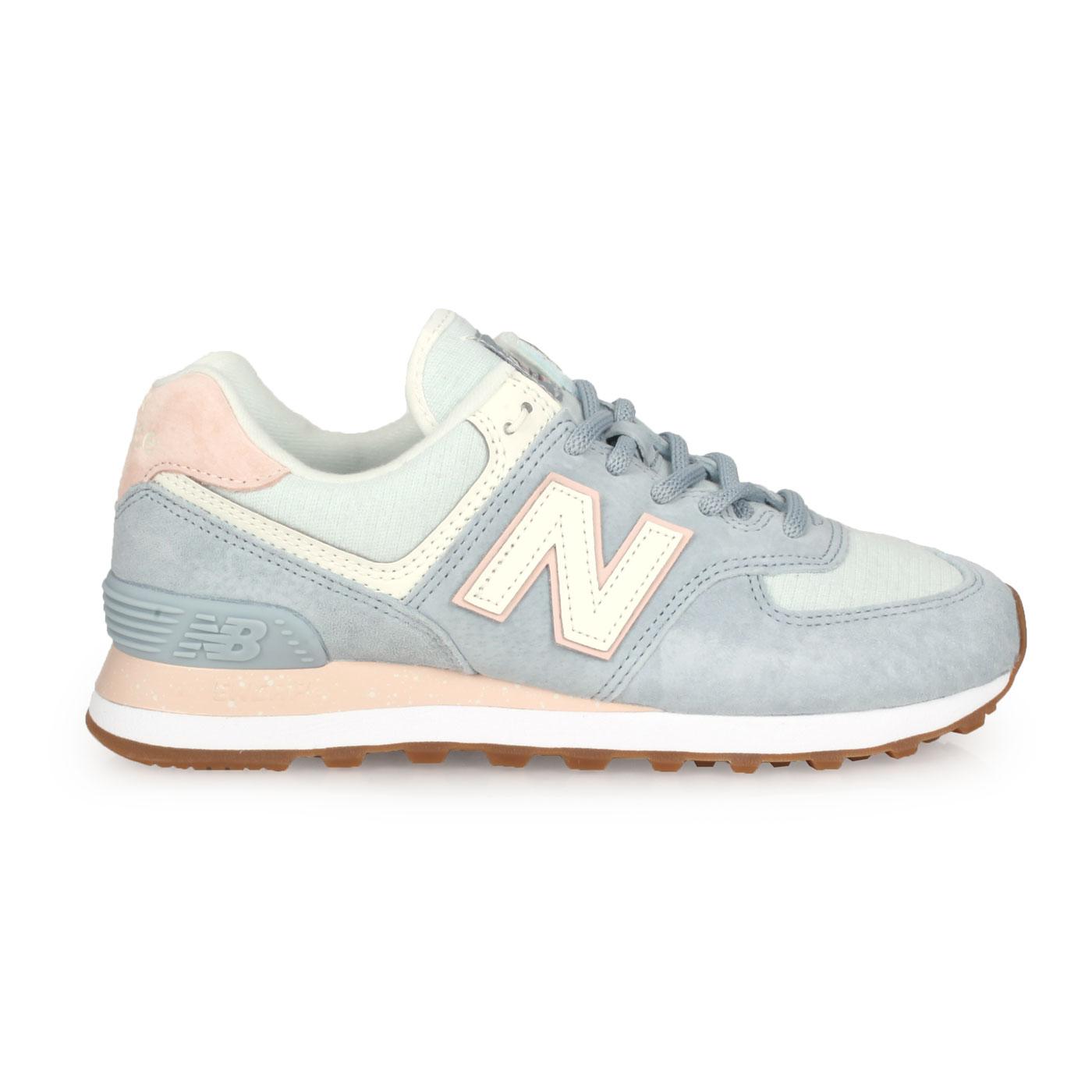 NEW BALANCE 女款復古慢跑鞋 WL574SUO - 粉藍白淺粉