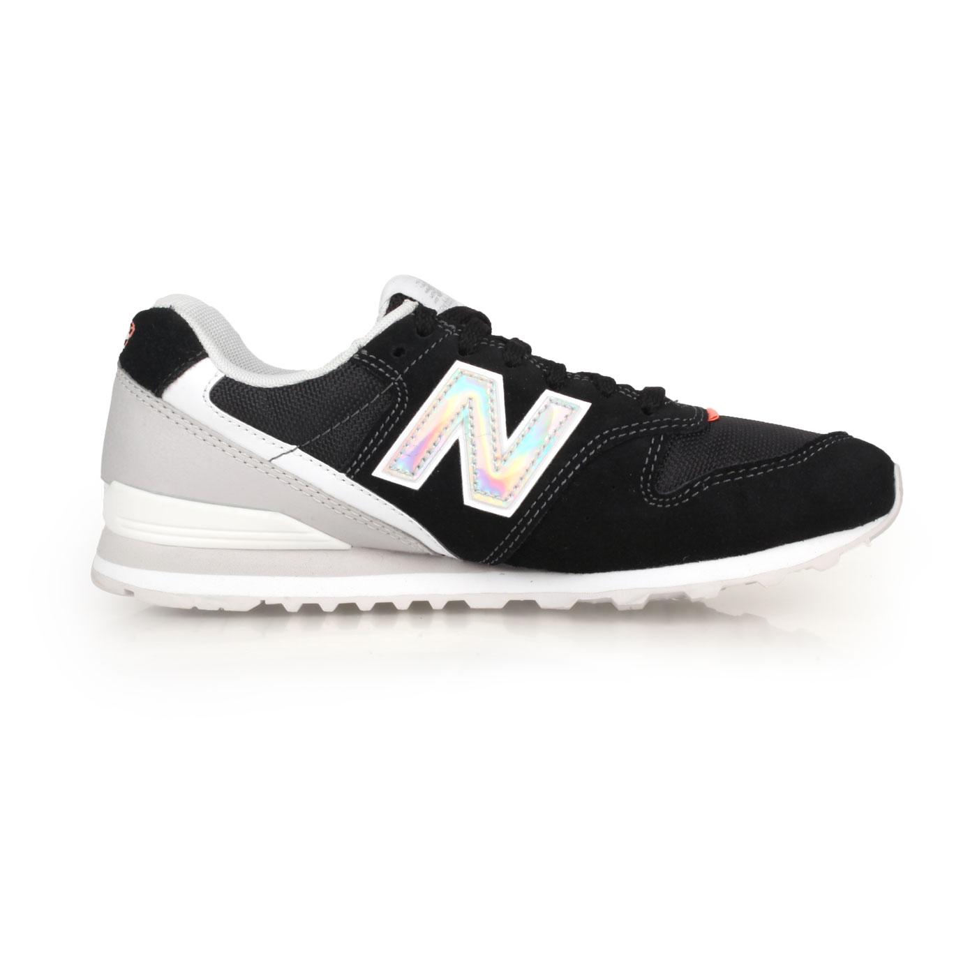 NEW BALANCE 女款復古慢跑鞋 WL996COB - 黑銀白