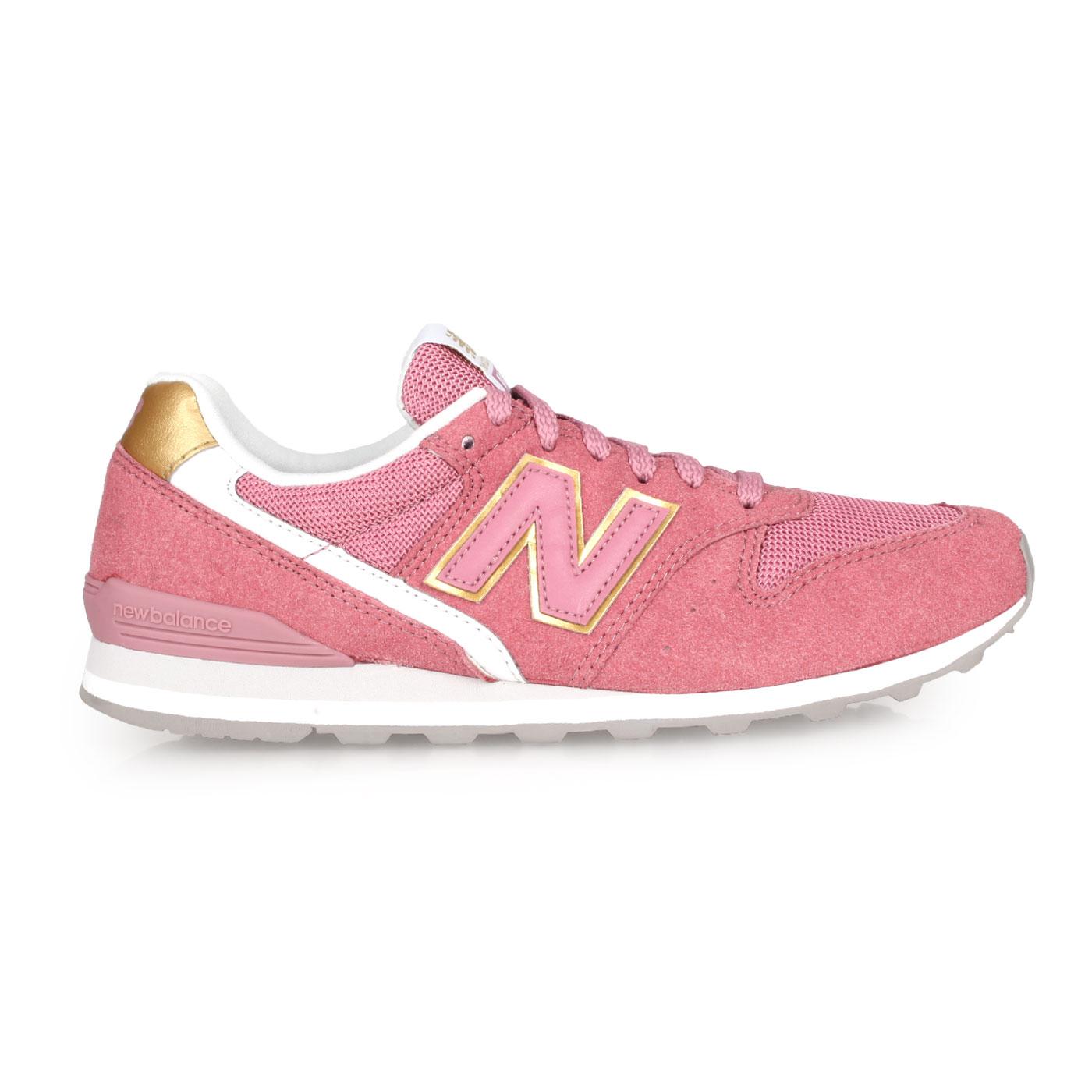NEW BALANCE 女款復古慢跑鞋 WL996CP - 珊瑚紅白金