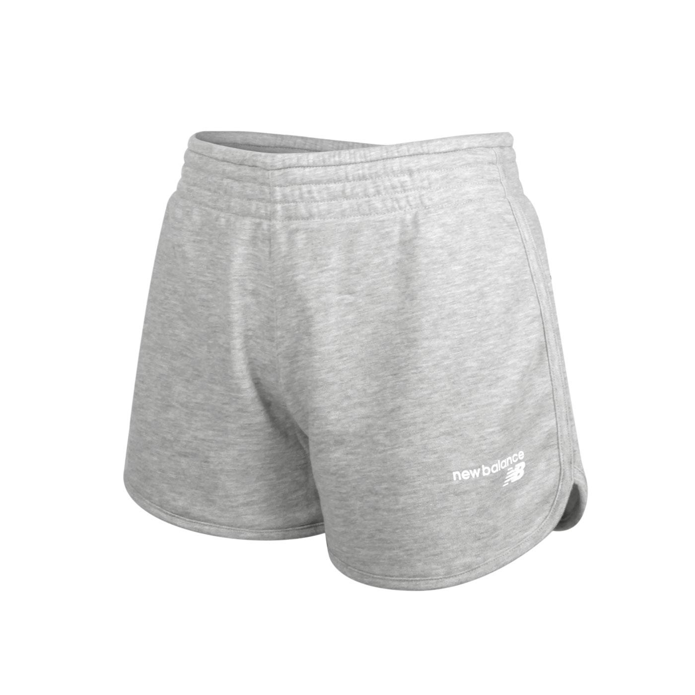 NEW BALANCE 女款運動短褲 WS03801AG - 灰白