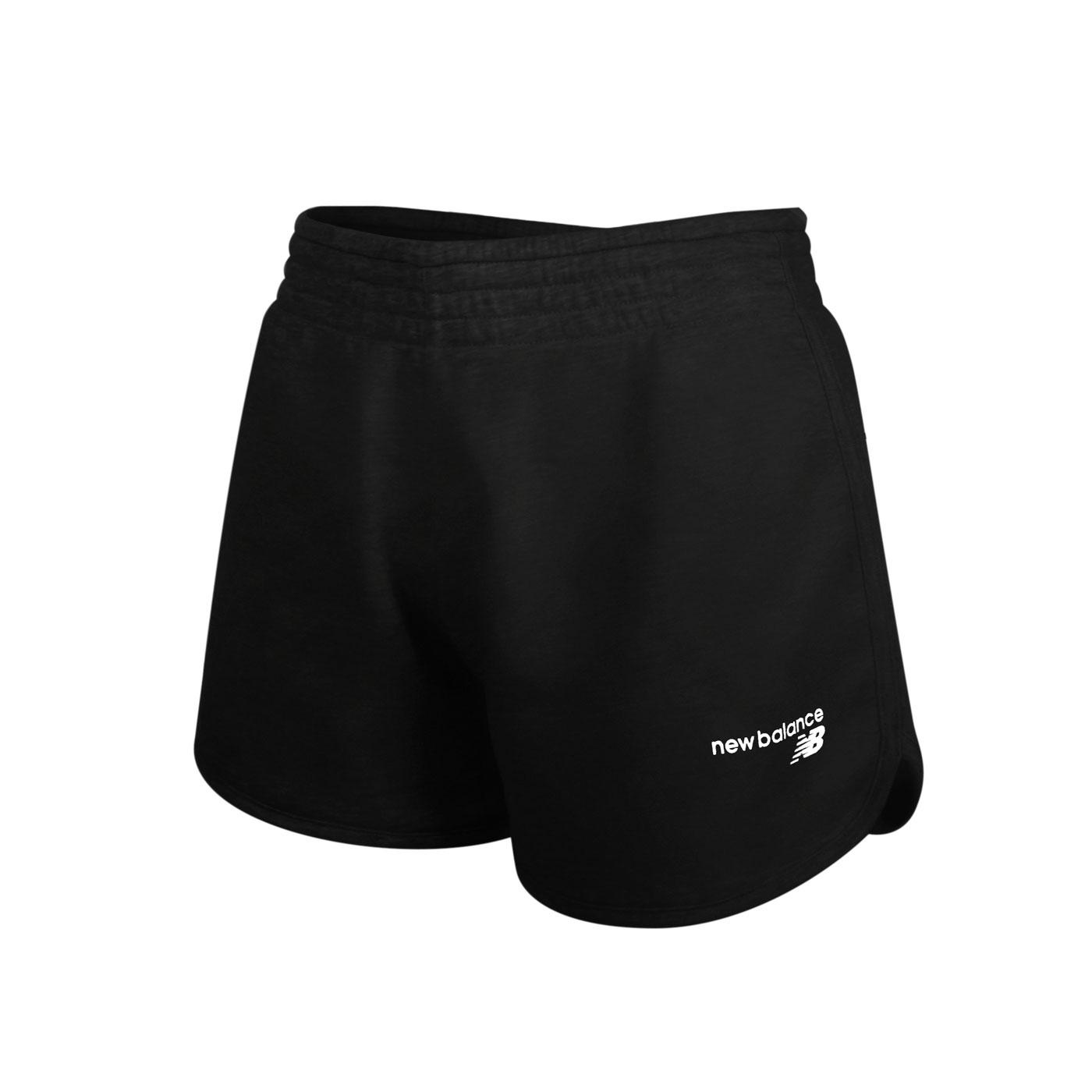 NEW BALANCE 女款運動短褲 WS03801AG - 黑白