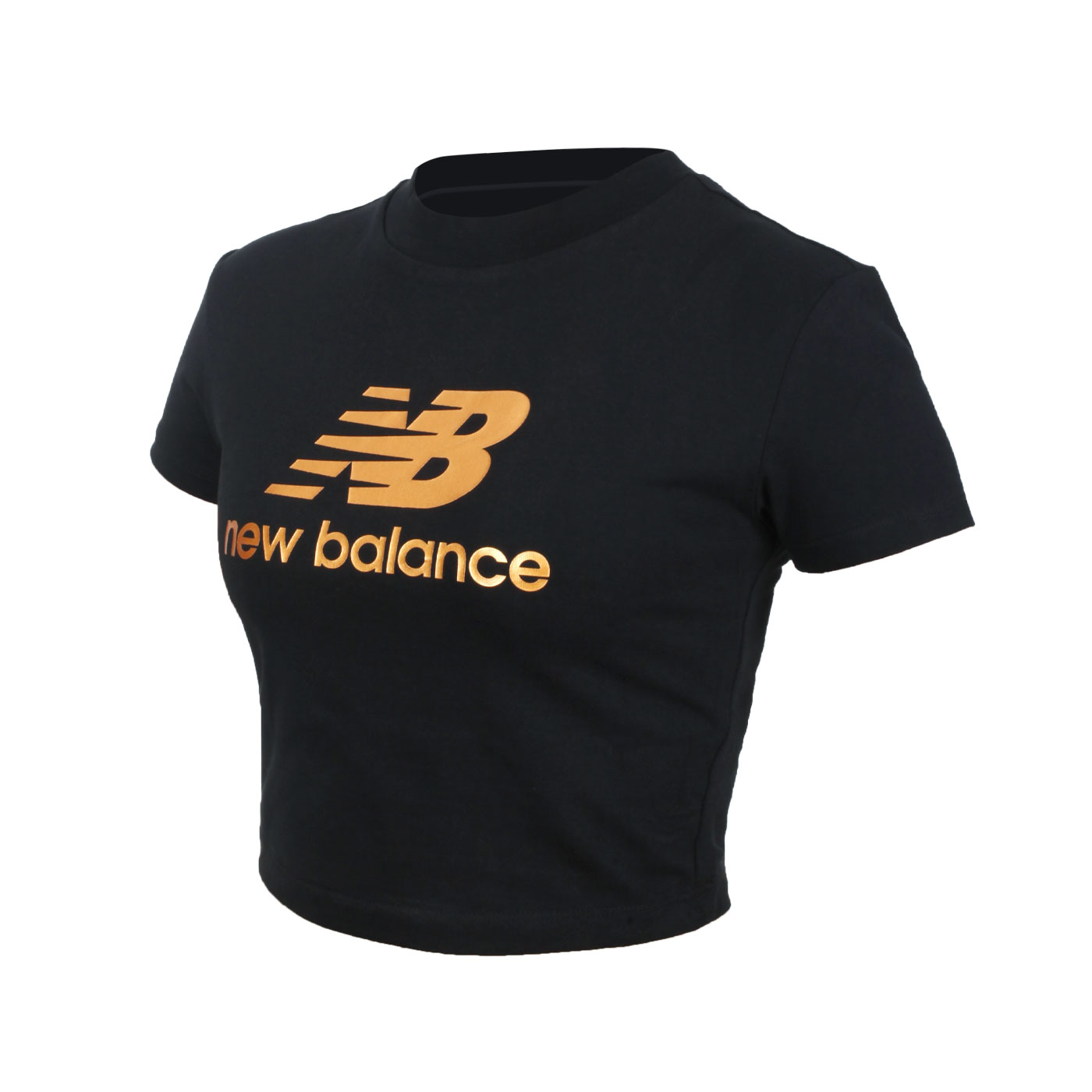 NEW BALANCE 女款短版短袖T恤 WT13503BK - 黑金
