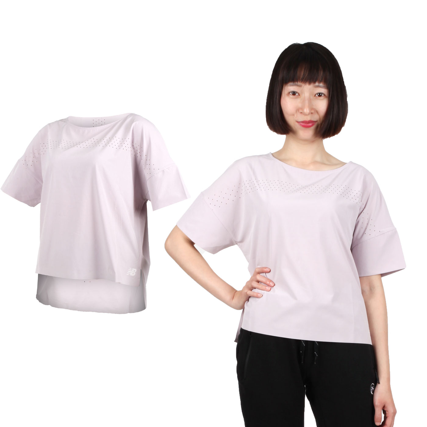 NEW BALANCE 女款短袖T恤 WT91503LCS - 淺紫