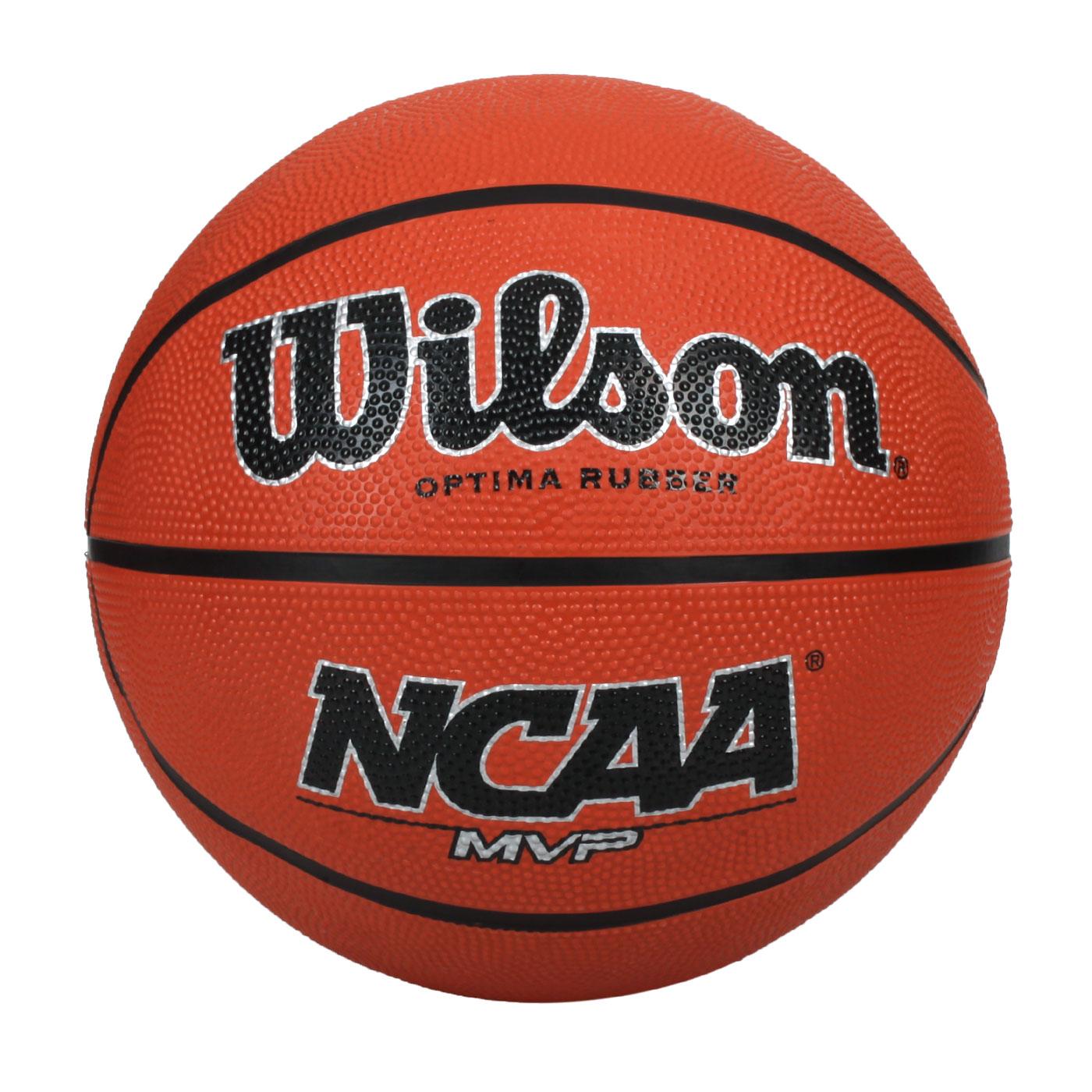 WILSON NCAA MVP 橡膠籃球#7 WTB0760XDEF - 橘黑銀