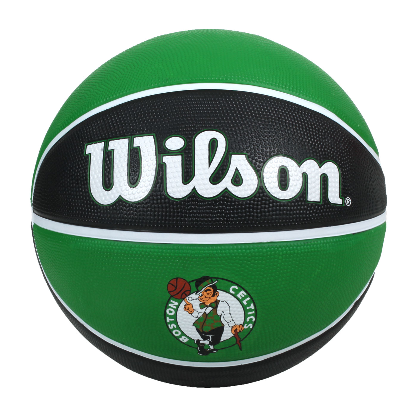 WILSON NBA隊徽系列21' 賽爾提克隊橡膠籃球#7 WTB1300XBBOS - 綠黑白