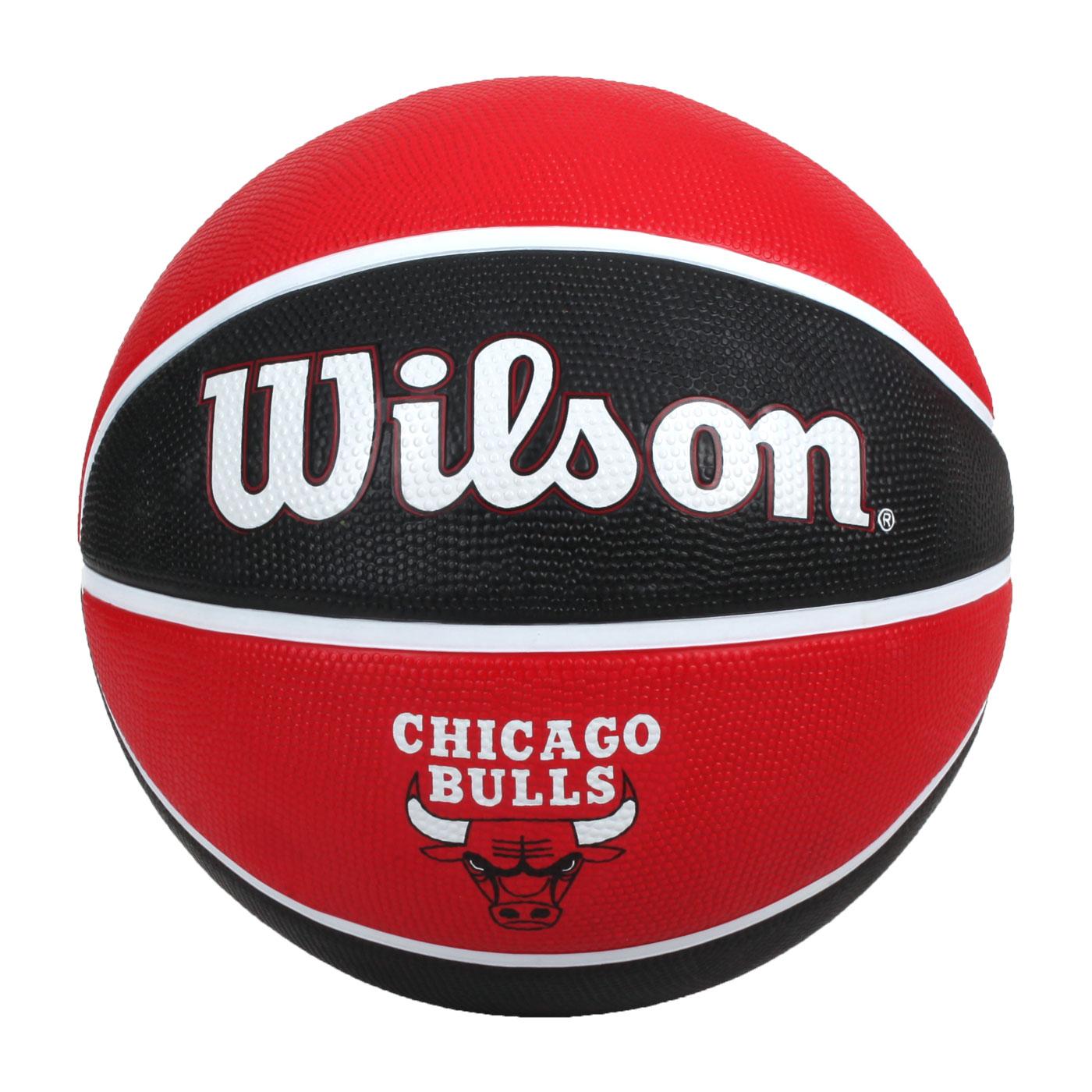 WILSON NBA隊徽系列21' 公牛隊橡膠籃球#7 WTB1300XBCHI - 紅黑白