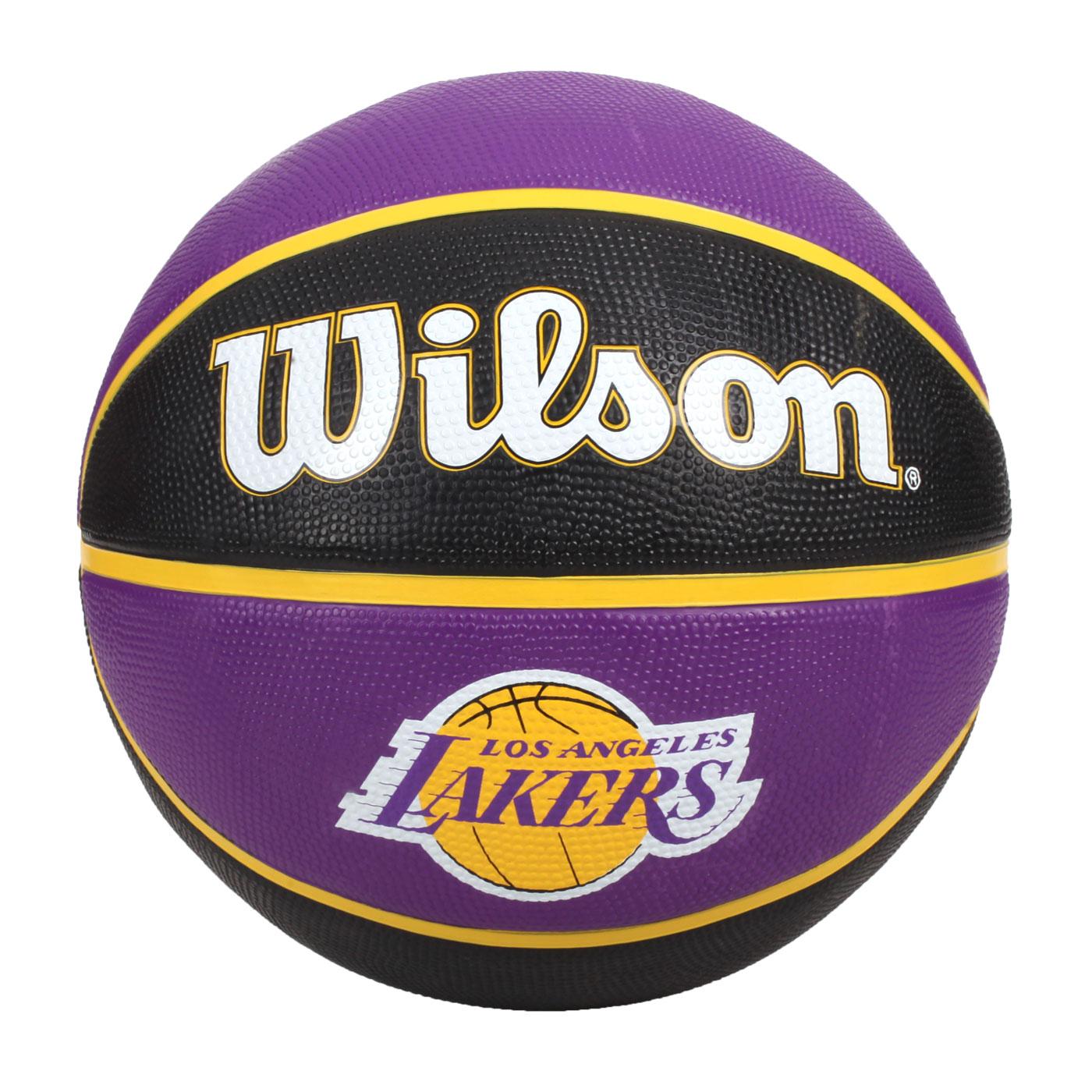 WILSON NBA隊徽系列21' 湖人隊橡膠籃球#7 WTB1300XBLAL - 黑紫黃白