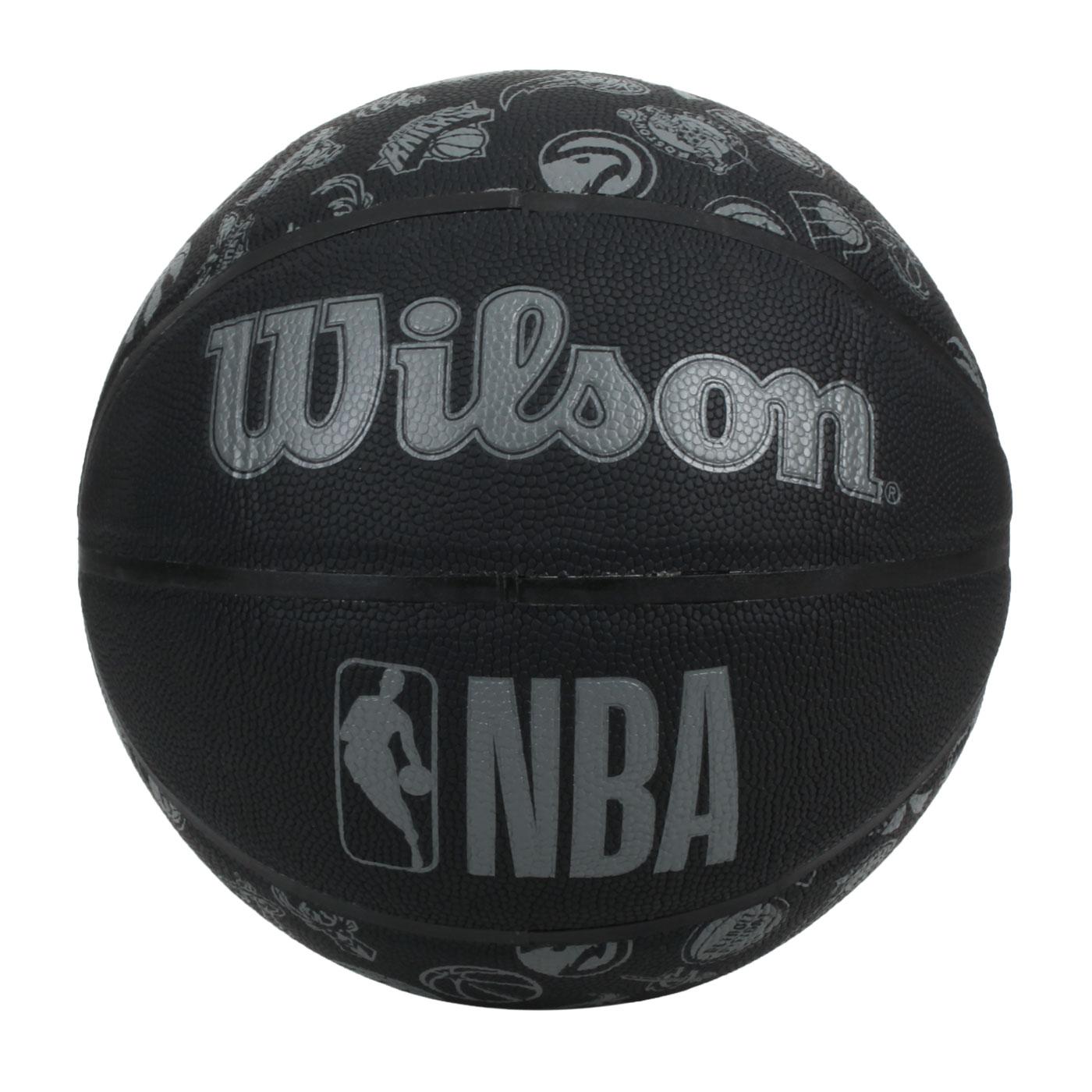 WILSON NBA ALL TEAM 隊徽合成皮籃球#7 WTB1300XBNBA - 黑灰