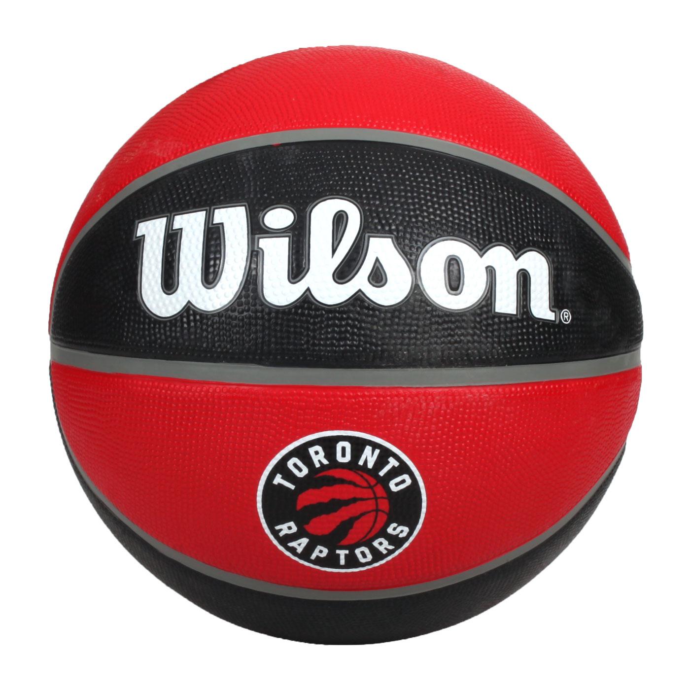 WILSON NBA隊徽系列 暴龍隊橡膠籃球#7 WTB1300XBTOR - 紅黑白