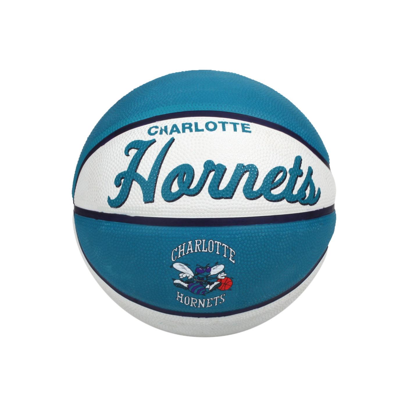 WILSON NBA隊徽系列橡膠籃球-復古黃蜂隊#3 WTB3200XBCHA - 藍綠白